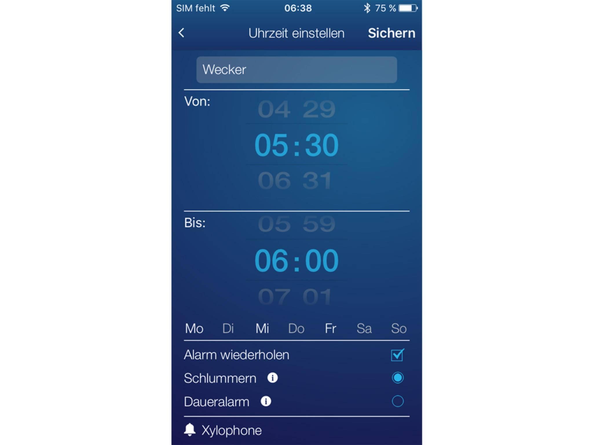 Wer möchte, lässt sich am Morgen in einer Leichtschlafphase wecken.