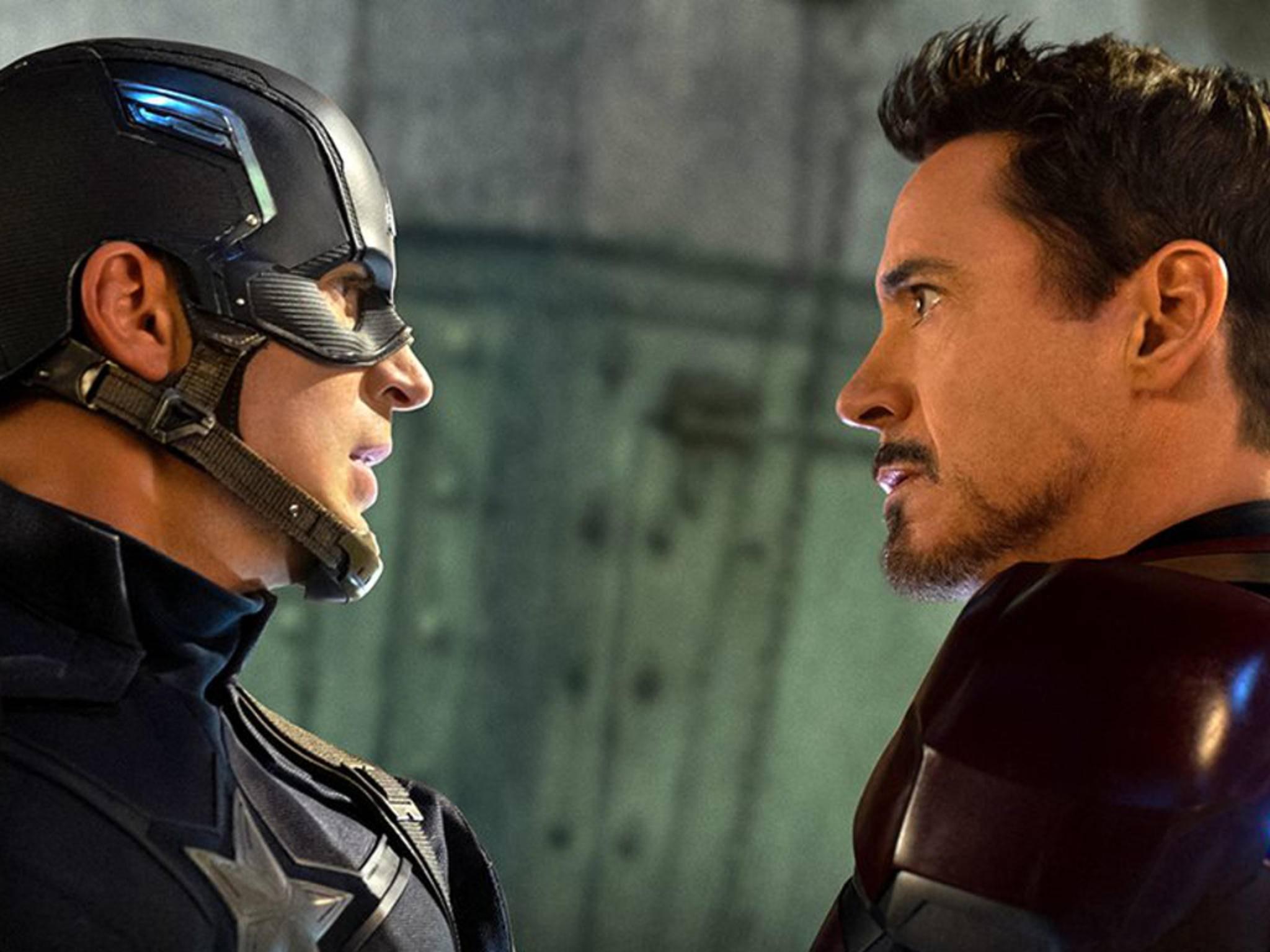"""Captain America und Iron Man sind sich in """"The First Avenger: Civil War"""" nicht ganz grün."""