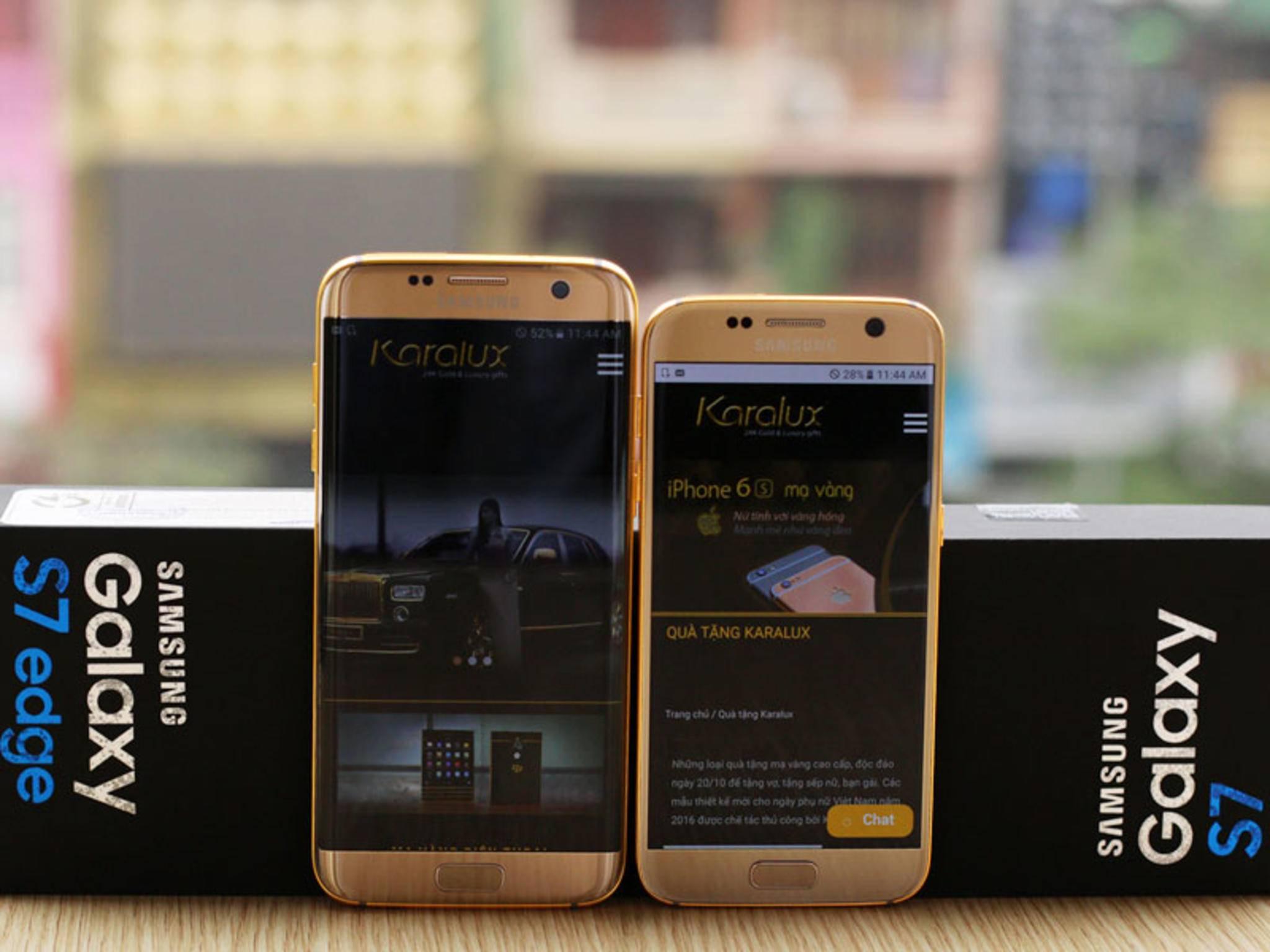 Wer will, kann eine Gold-Variante des Galaxy S7 erwerben.