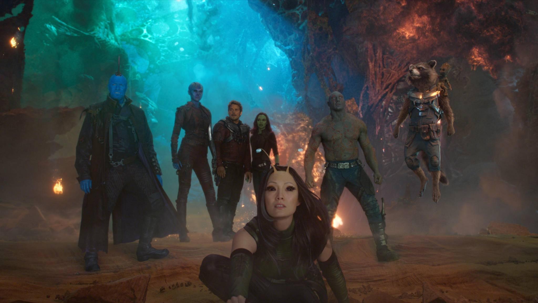 """Star-Lord, Nebula und Co. kommen wieder – in """"Guardians of the Galaxy 3""""."""