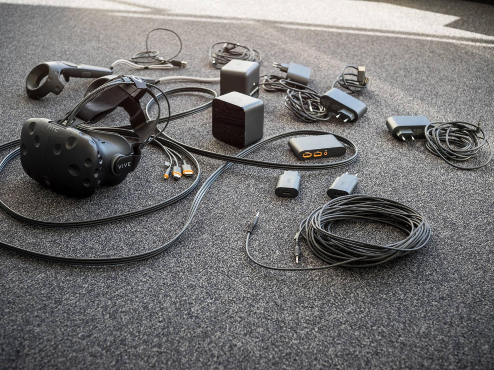 Kabelsalat: Wir verraten Dir, wie die HTC Vive eingerichtet wird.
