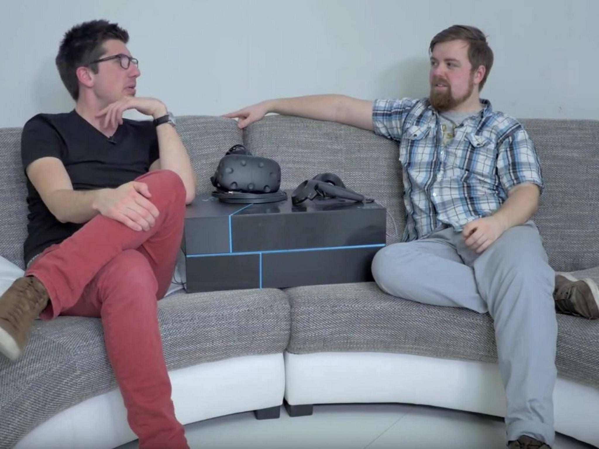 Alex & Jens geben euch ausreichend Möglichkeit, die HTC Vive zu testen.