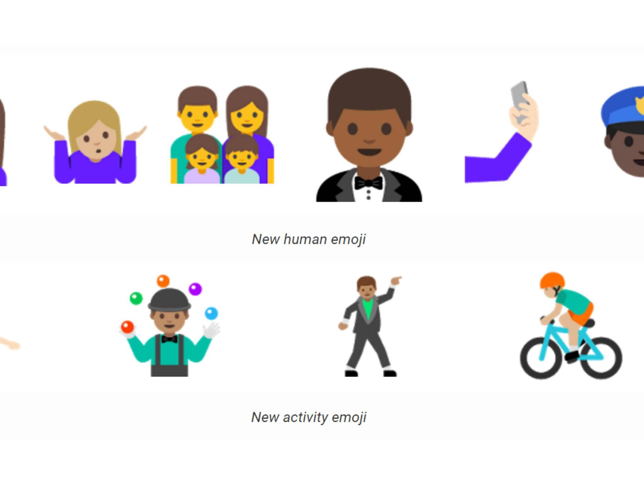 Neue Emojis in Android N