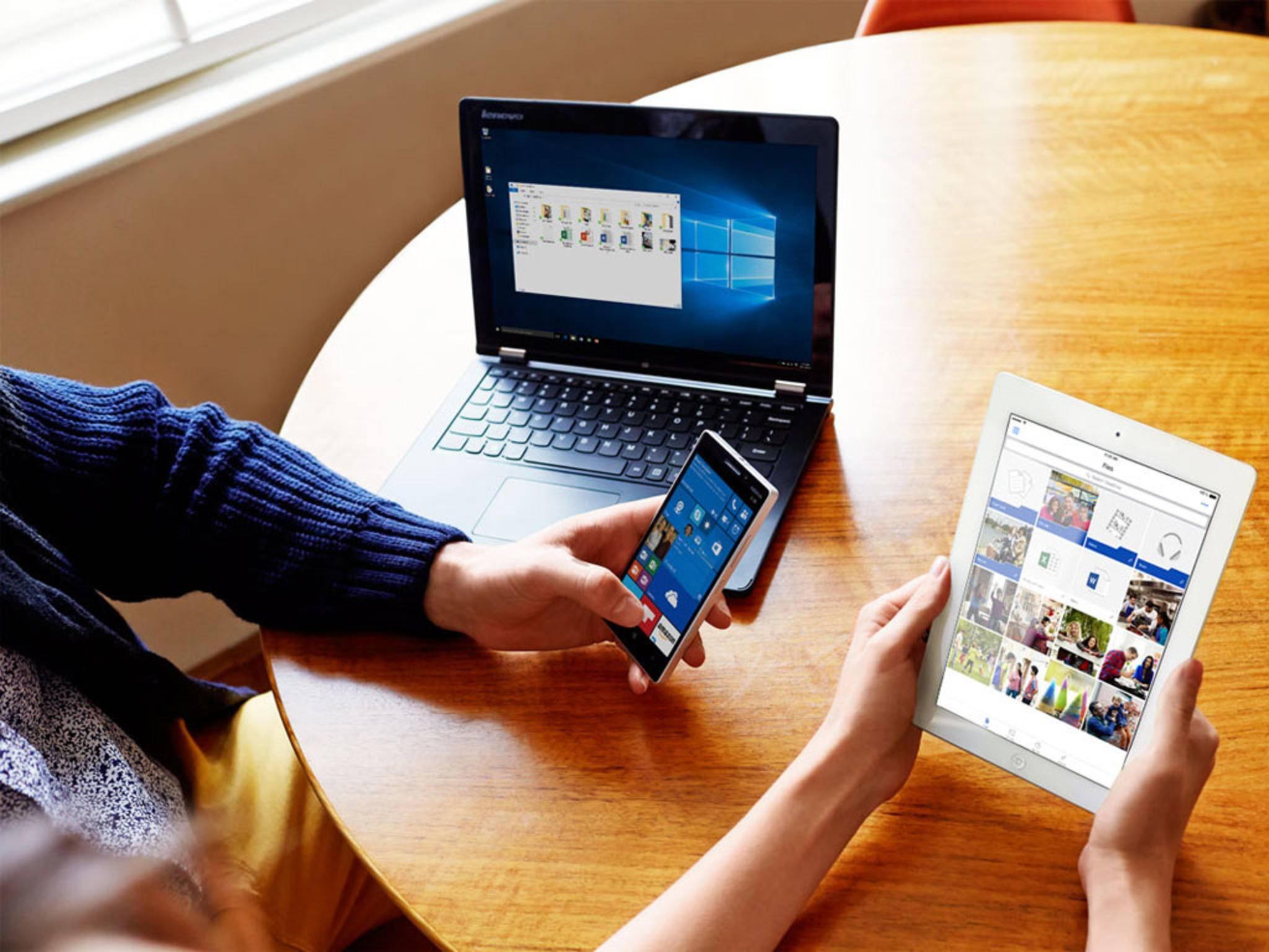 OneDrive bietet 5 GB kostenlosen Speicher.