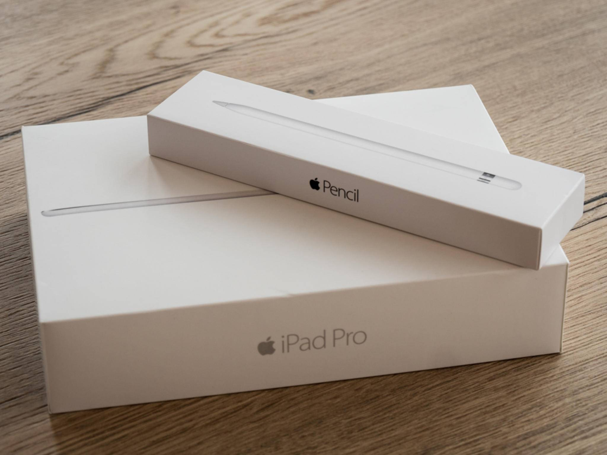 Der separat erhältliche Apple Pencil arbeitet nur mit einem iPad Pro zusammen.