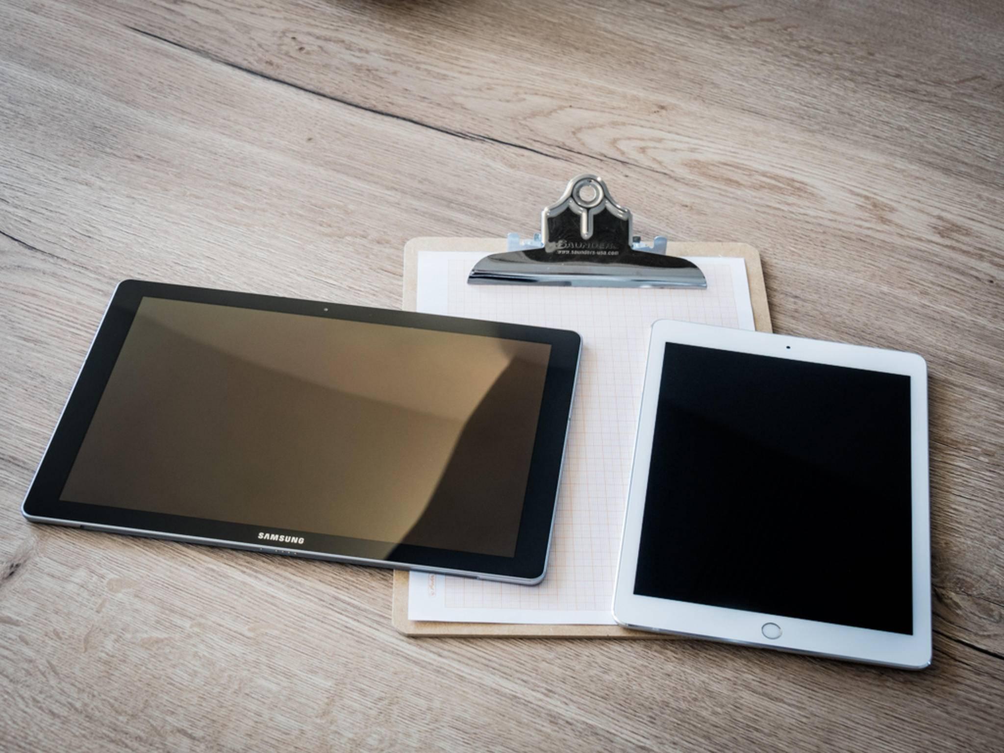 Das Design ähnelt dem des iPad Pro (rechts).