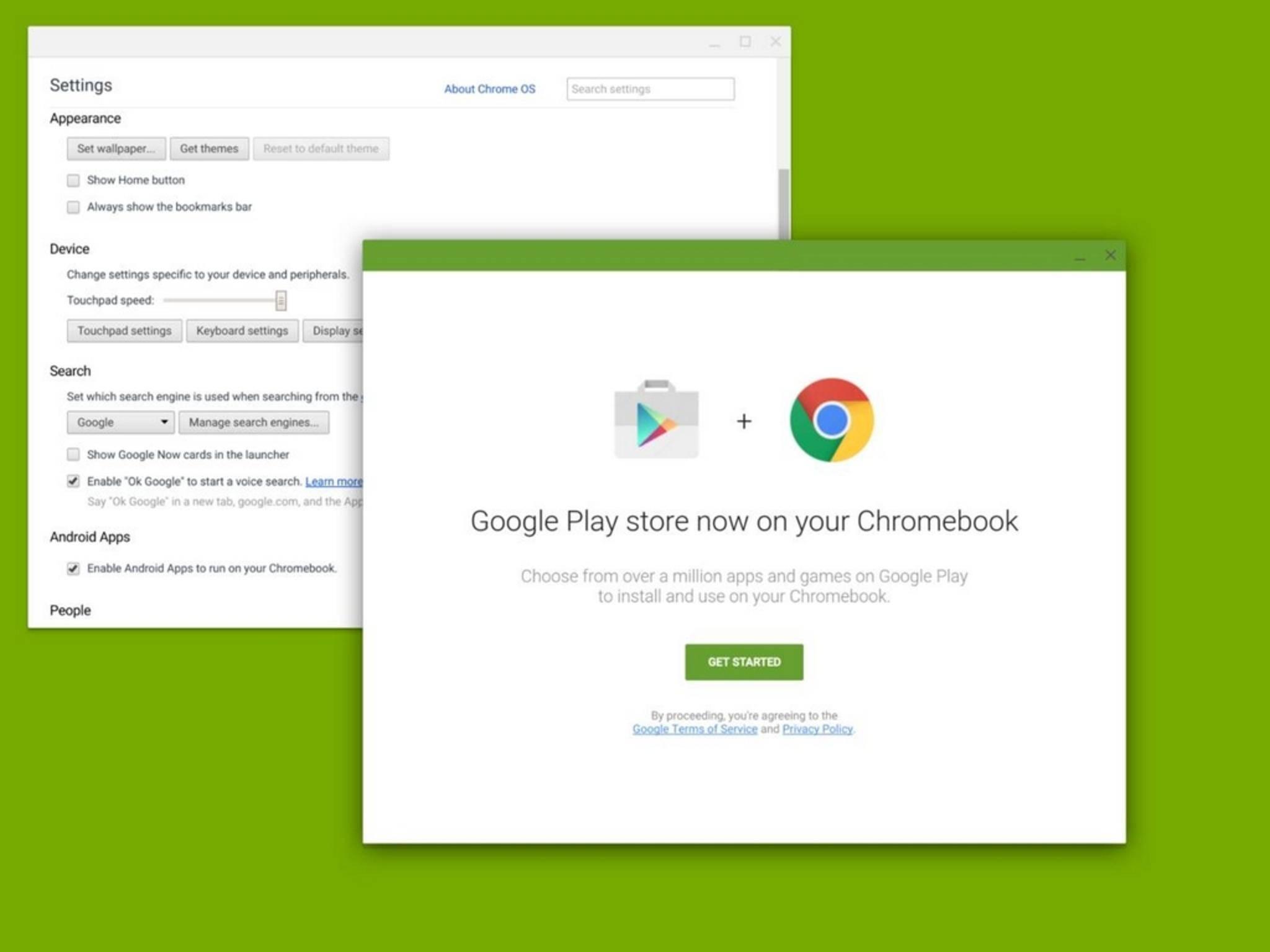 Chrome OS könnte demnächst auch Android-Apps schlucken.