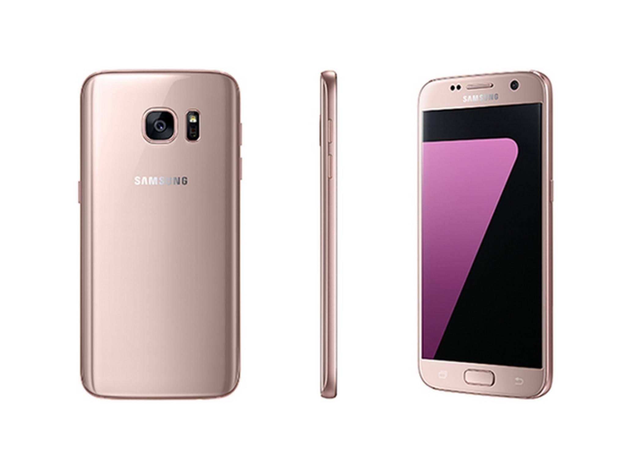 Dürfen wir vorstellen? Das Samsung Galaxy S7 in Pink Gold.