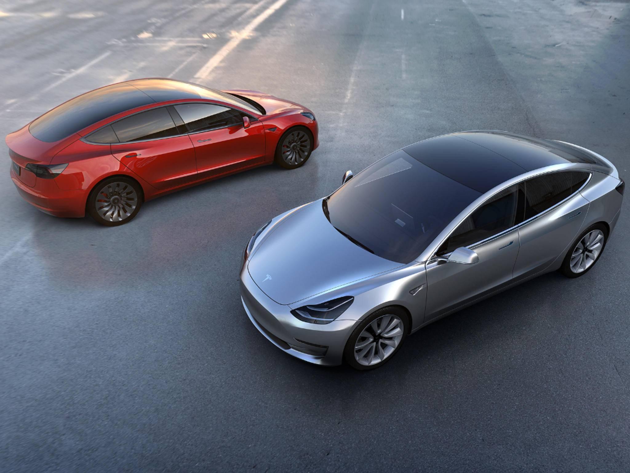 So sieht das neue Tesla Model 3 aus.