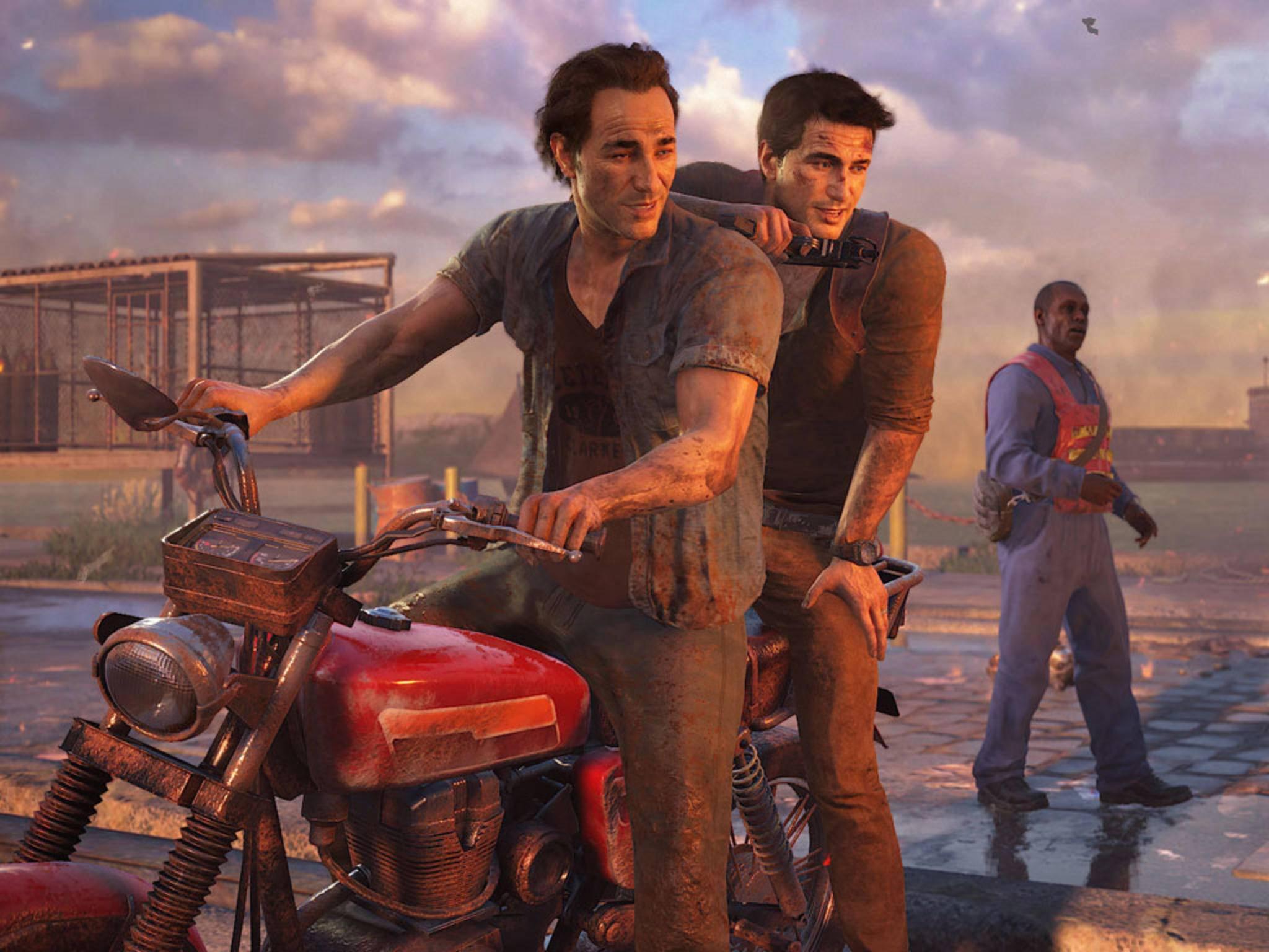 """Sollen auch im Story-DLC zu """"Uncharted 4"""" wieder im Zentrum stehen: Nathan Drake und Bruderherz Sam."""