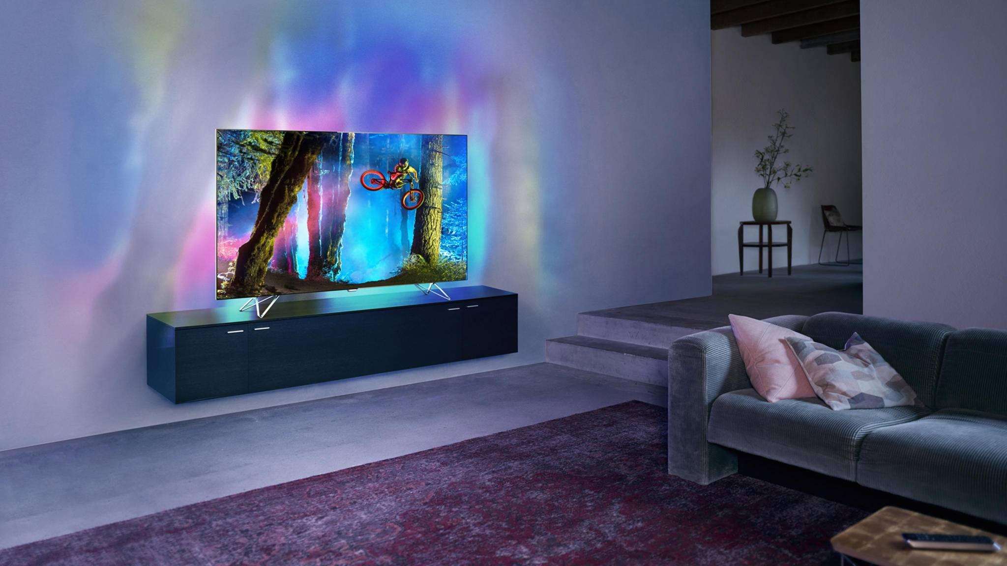 Ambilight sieht toll aus - ist aber nativ nur auf Philips-TVs verfügbar.