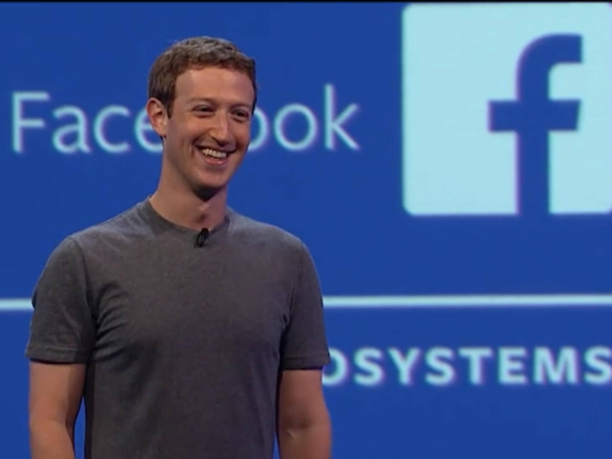Da freut sichMark Zuckerberg. Für Oculus Rift ist personalisierte Werbung geplant.