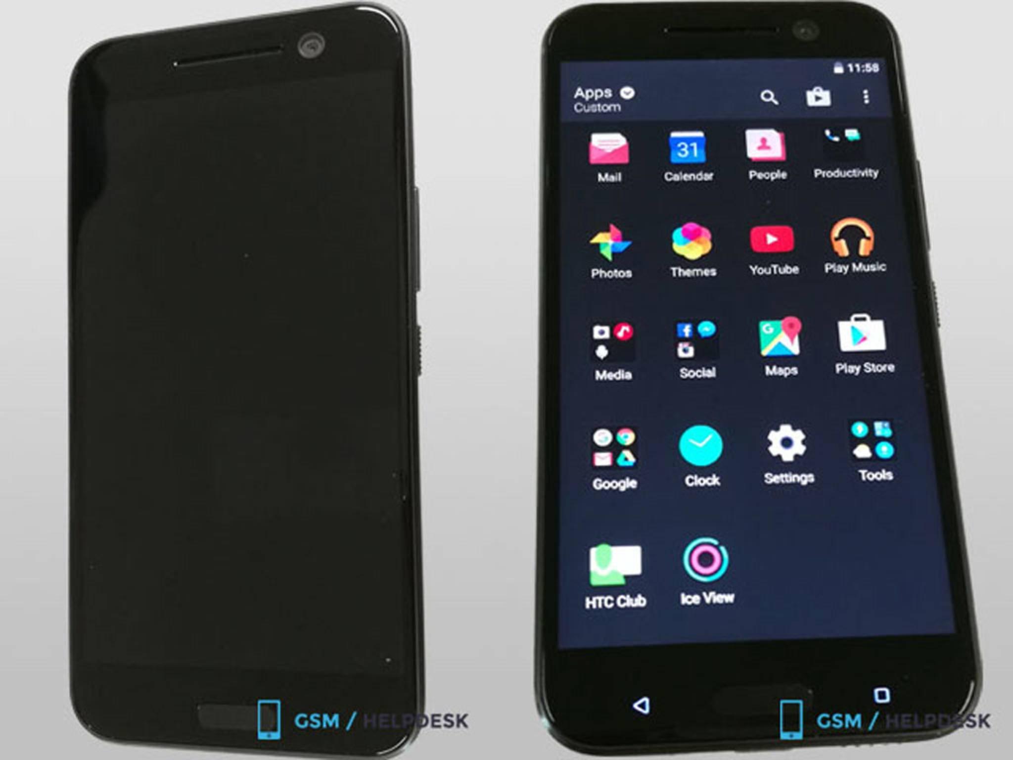 Das HTC 10 sieht durchaus wie ein typisches HTC aus und ...