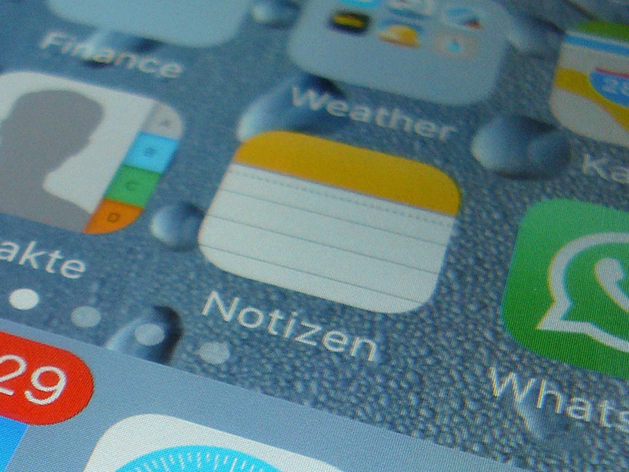 Mit iOS 9.3 kannst Du Deine Notizen sichern.