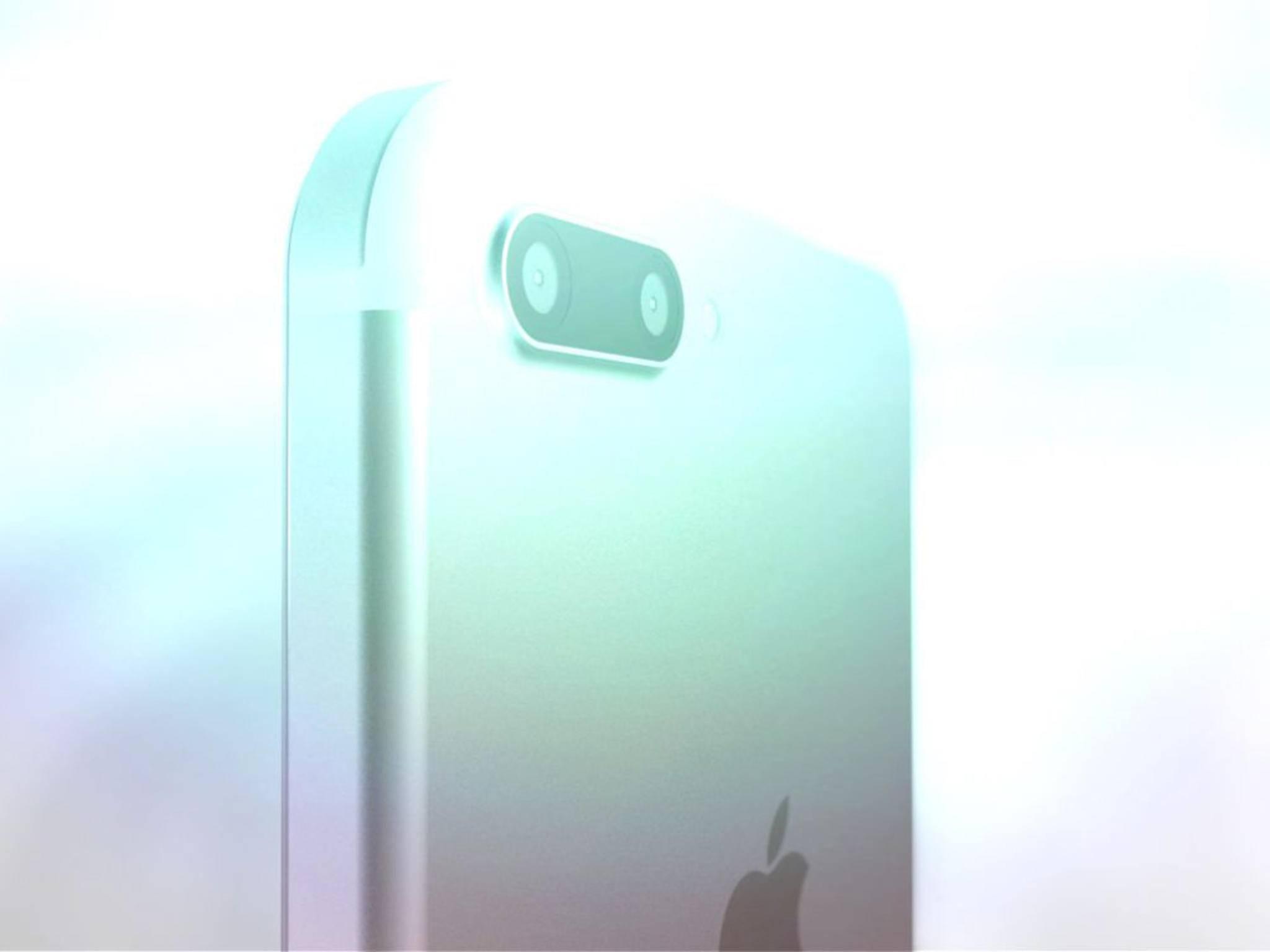 So könnte eine Dual-Kamera beim iPhone 7 Plus aussehen.