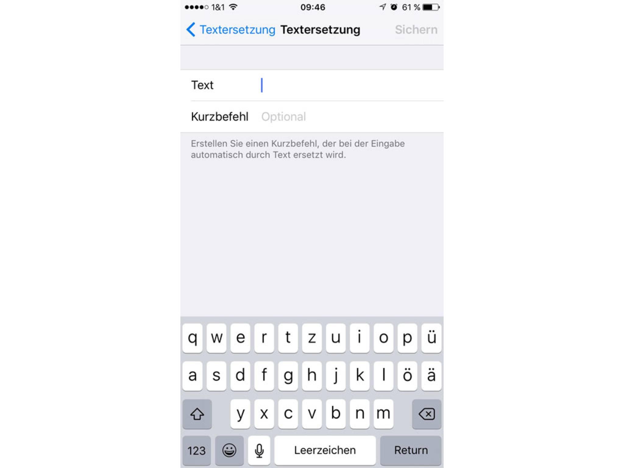 Im Textfeld wird das kopierte Apple-Logo eingefügt.