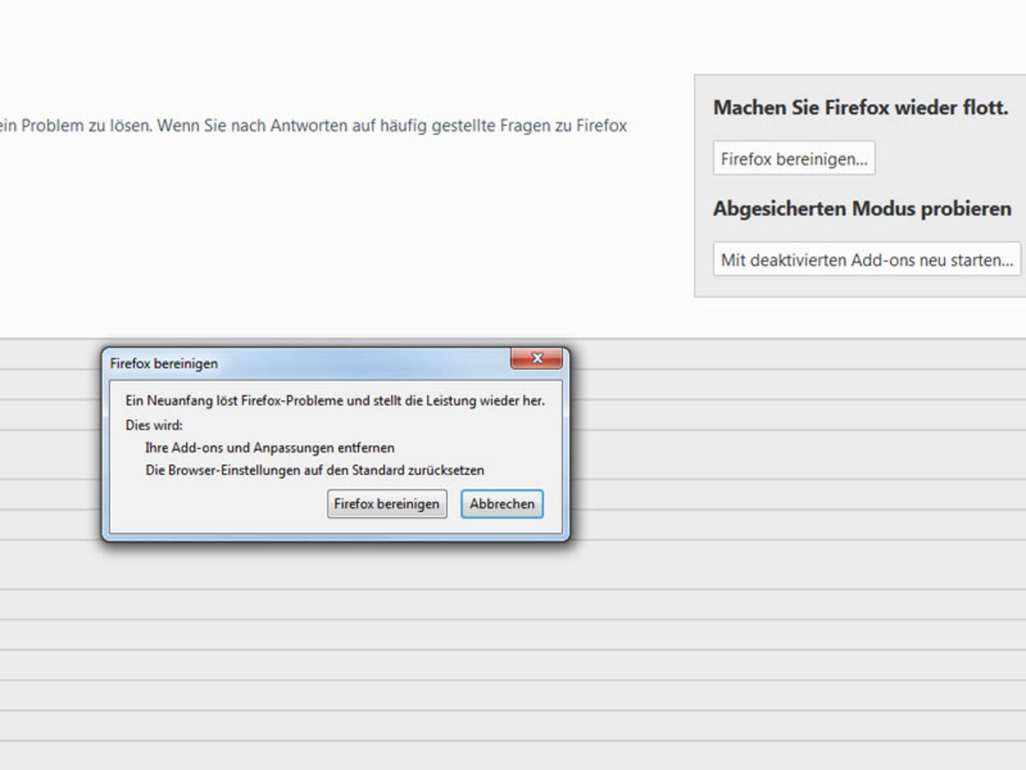 Firefox-bereinigen2