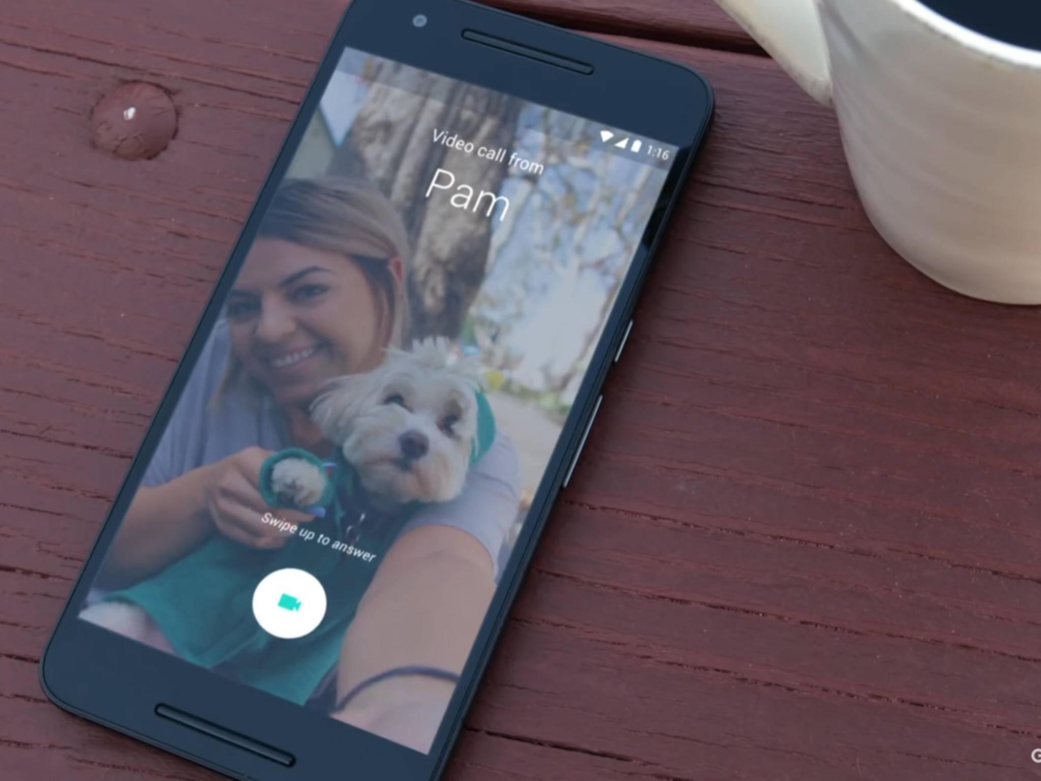 Googles App Duo bietet Vorschauvideos der Anrufer.