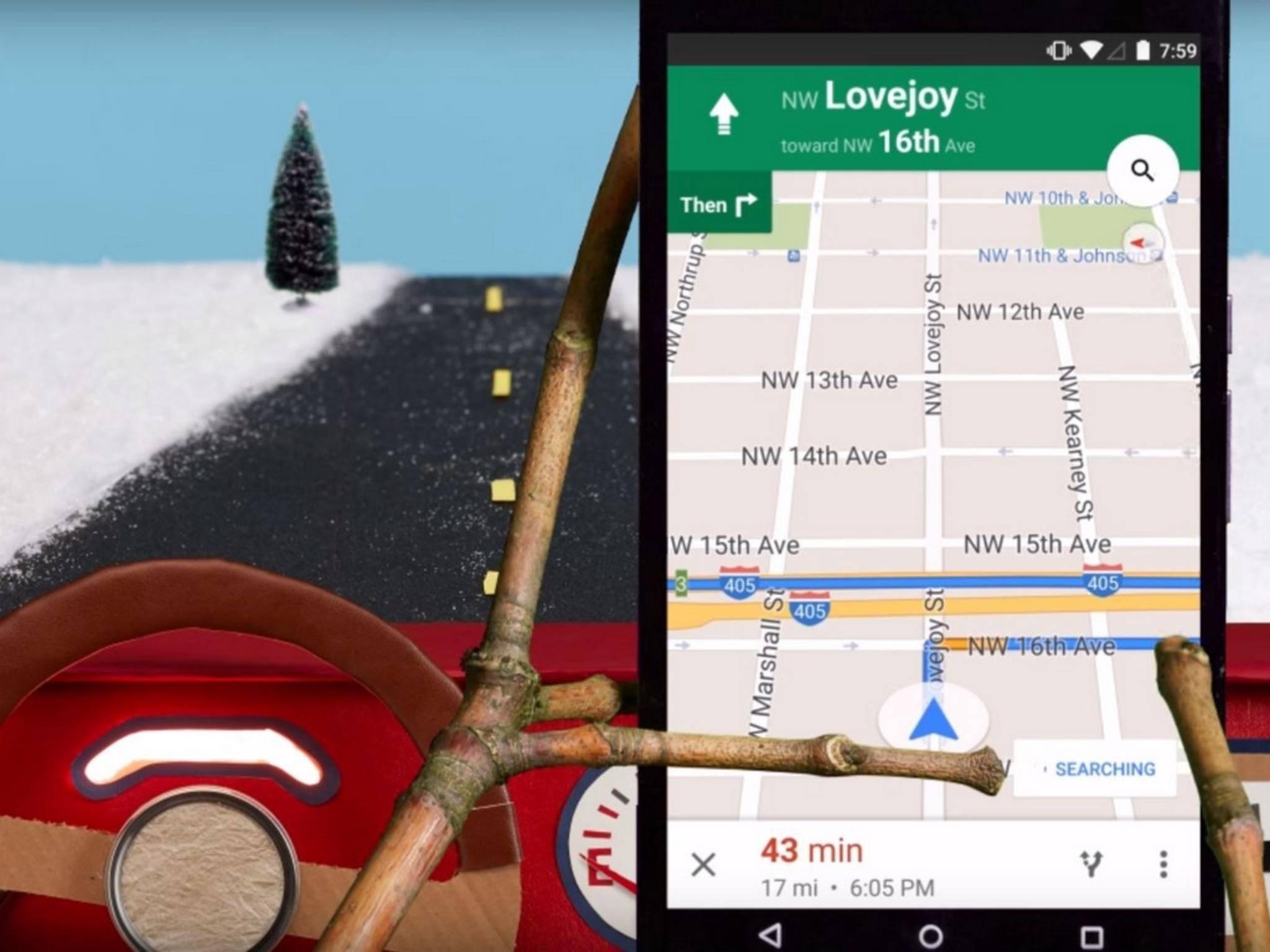 Karten von Google Maps kannst Du auch ausdrucken.
