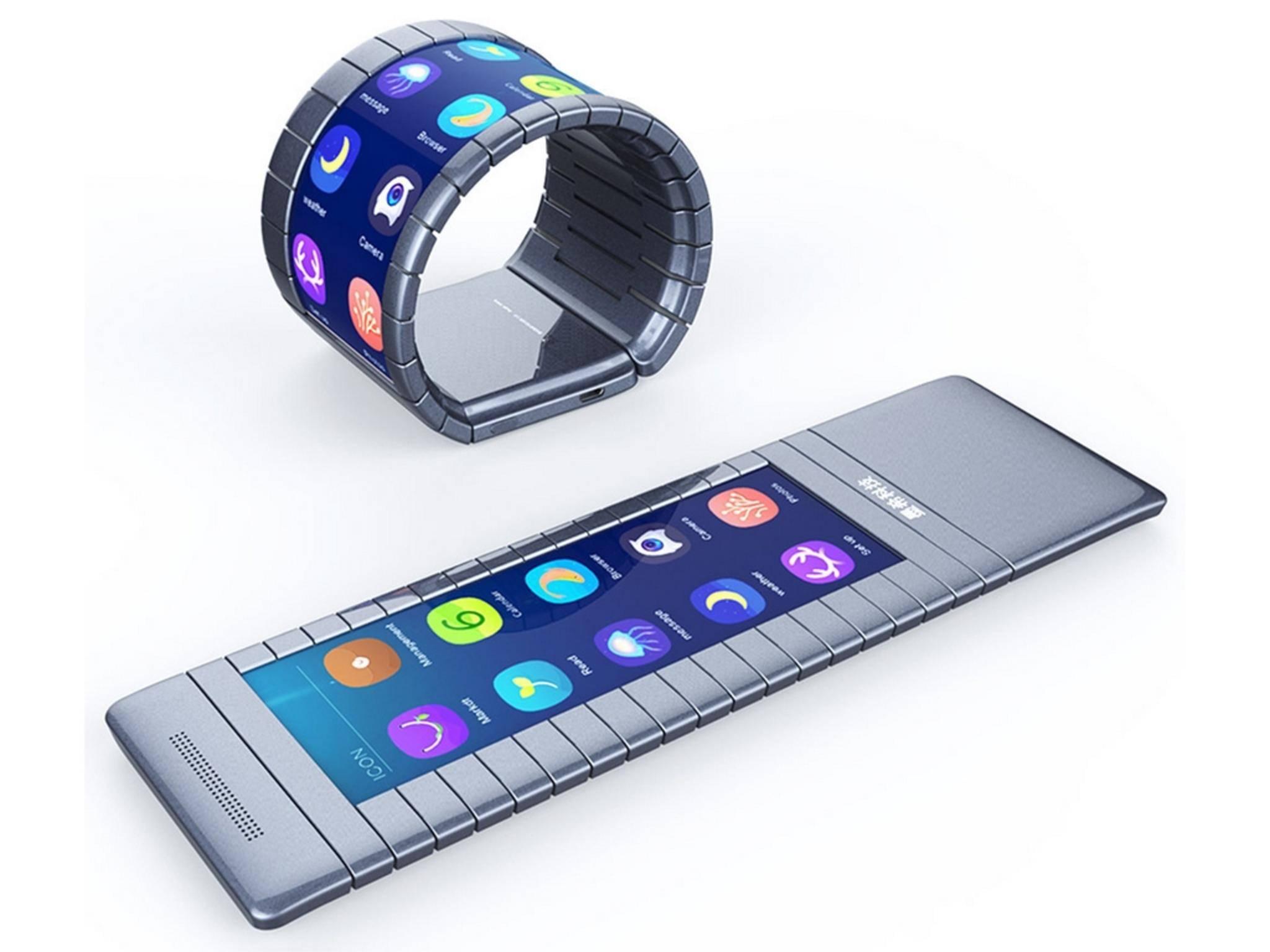 Das Moxi-Gerät wird das erste biegbare Smartphone sein.