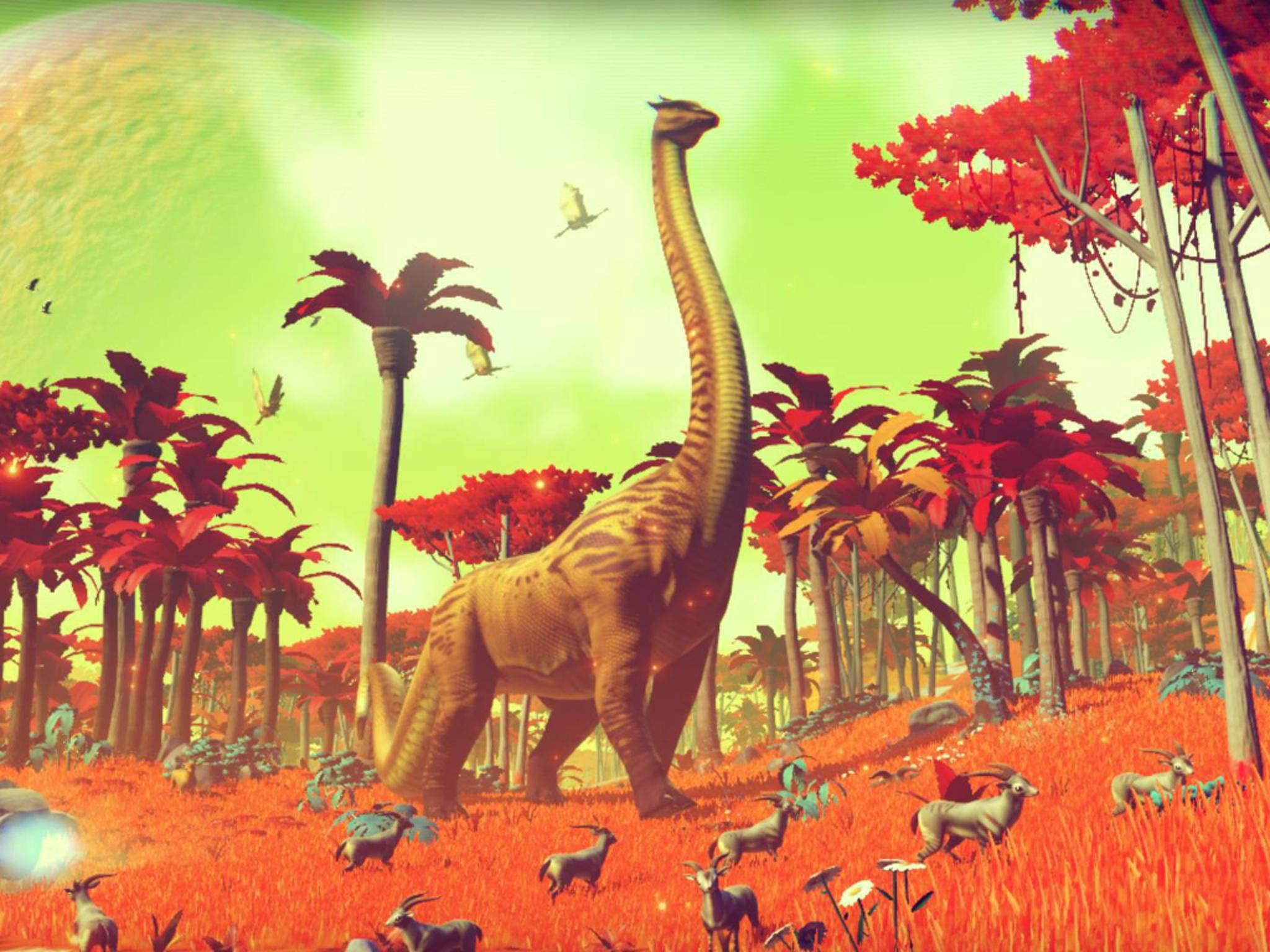 Die Lebewesen auf den Planeten werden prozedural je nach Umfeld generiert.