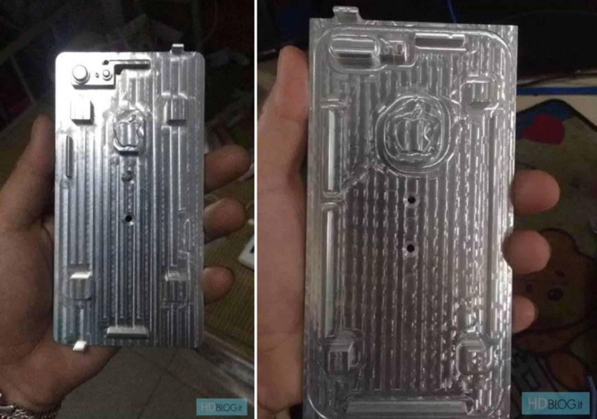 Diese Gussformen sollen angeblich für das iPhone 7 und iPhone 7 Plus dienen.