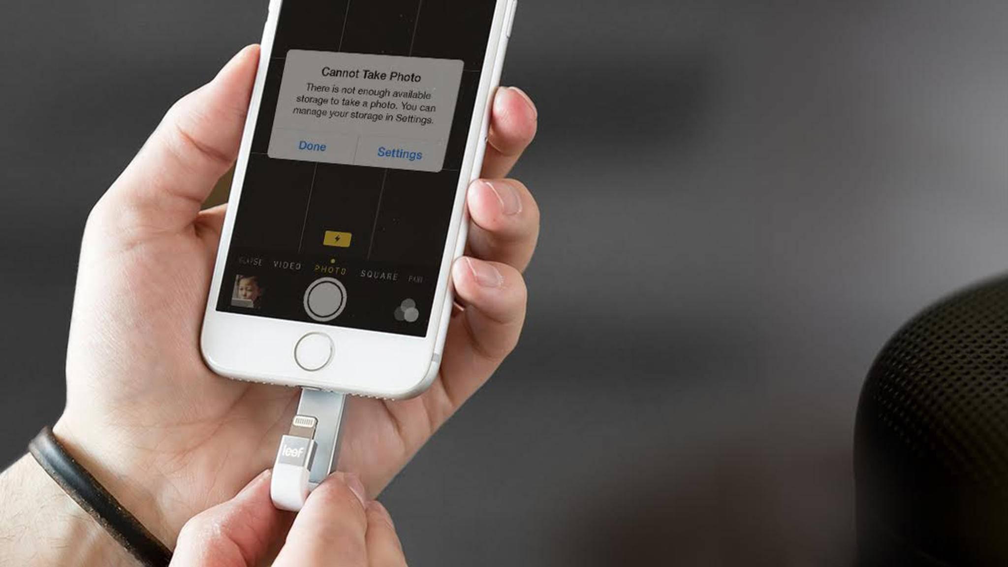 Mit ein paar cleveren Gadgets kannst Du den iPhone-Speicher im Handumdrehen erweitern.