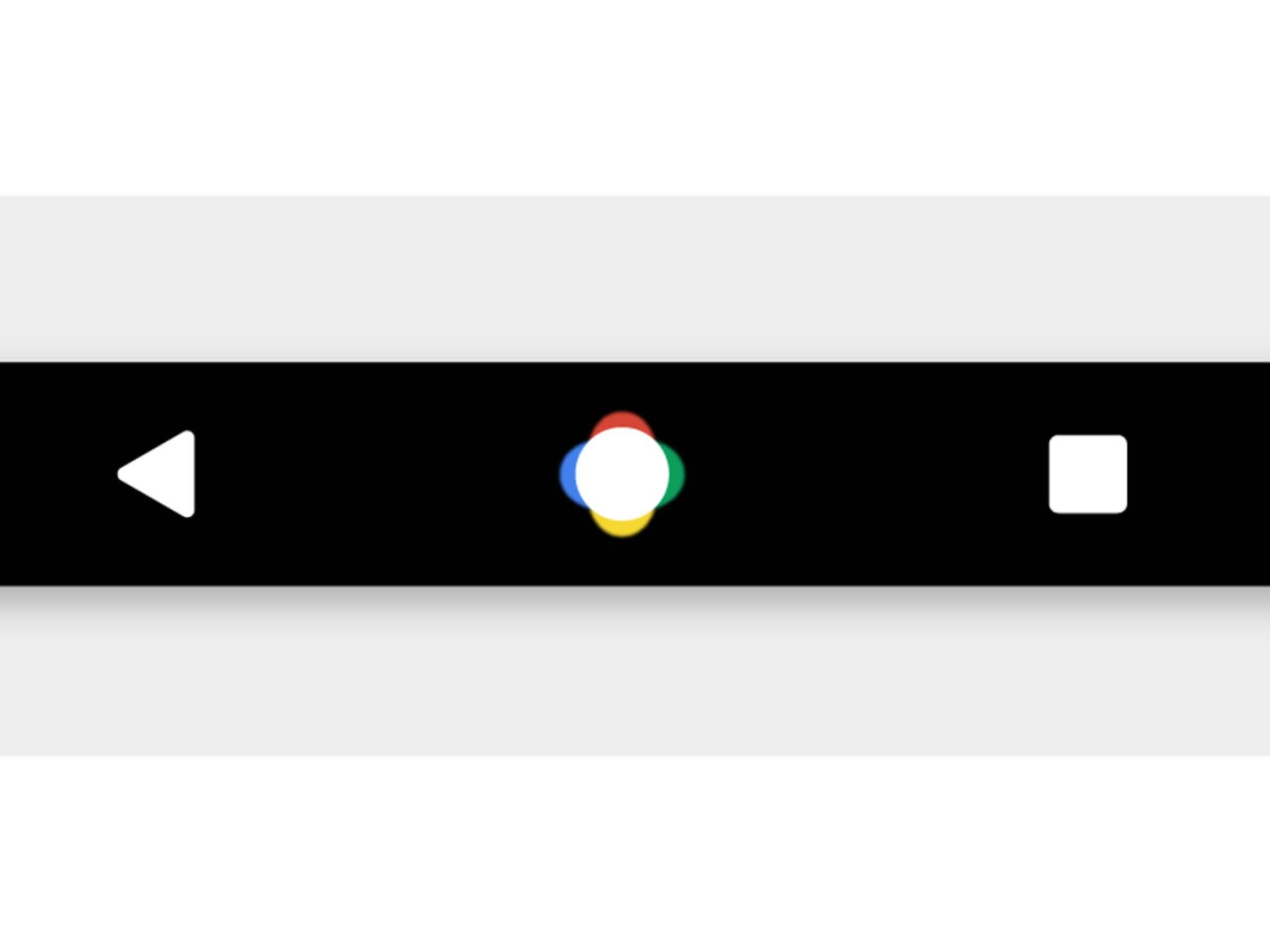 So soll die neue Navi-Leiste in Android N aussehen.