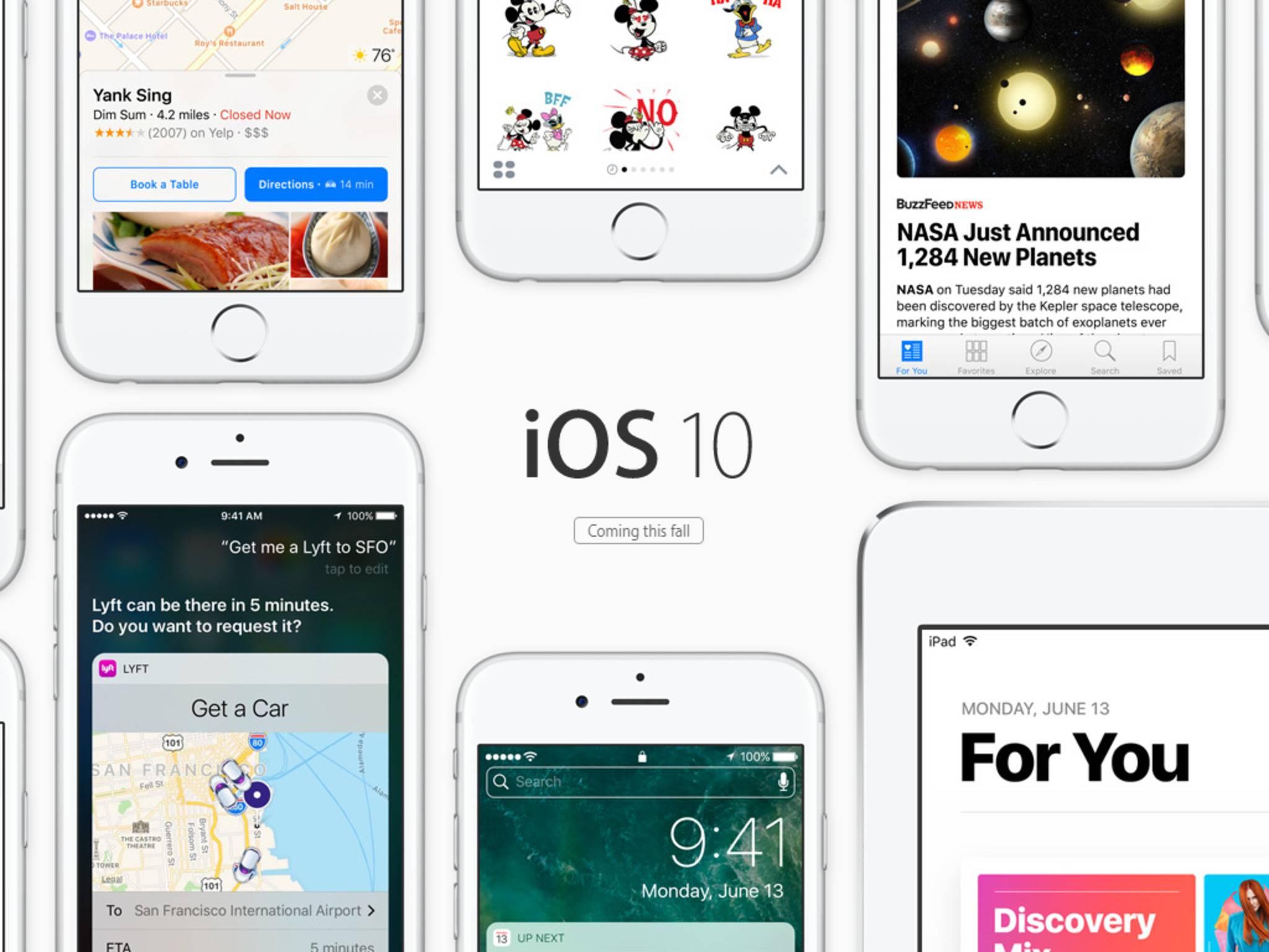 iOS 10 kann im Juli von allen Interessierten getestet werden.