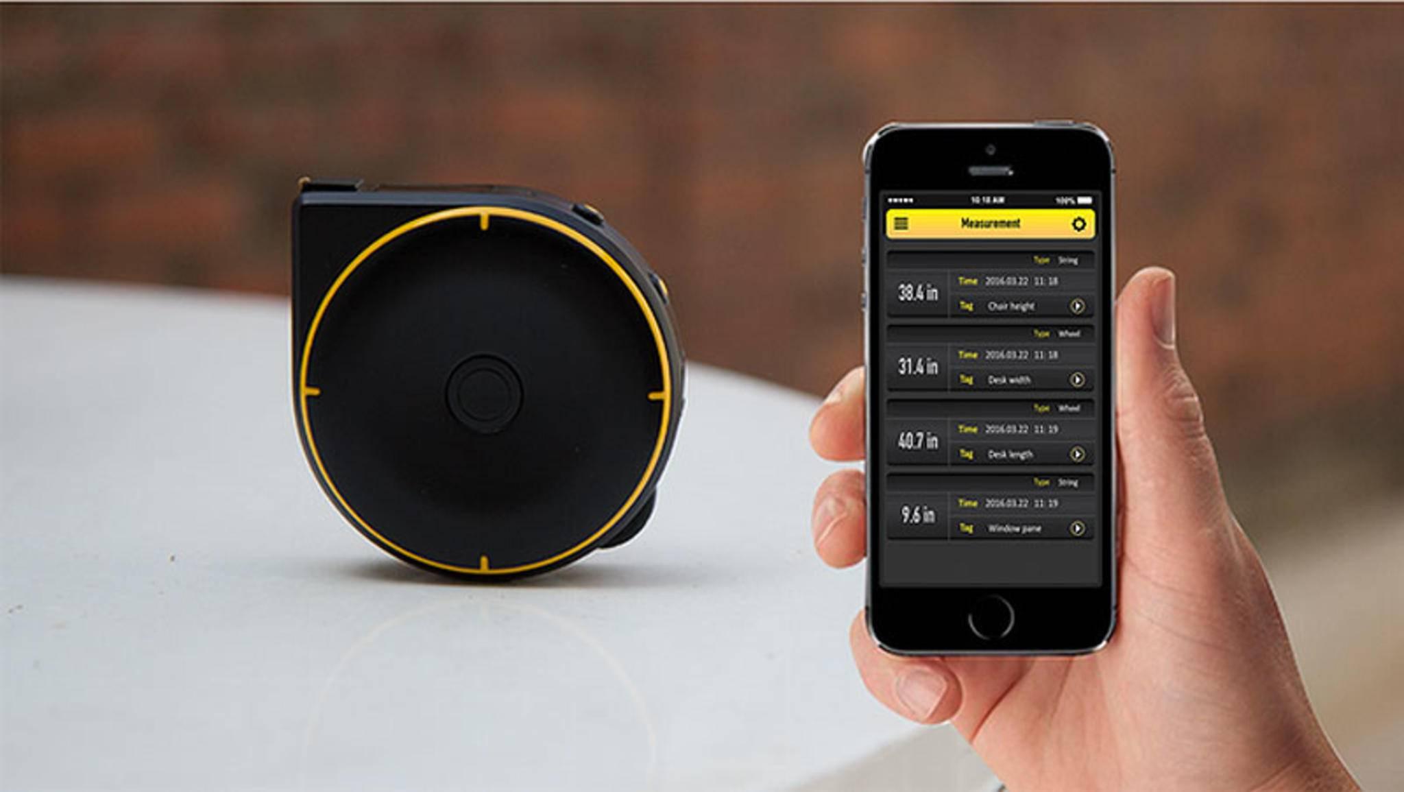 Die Messwerte können an eine App für iOS und Android übertragen werden.