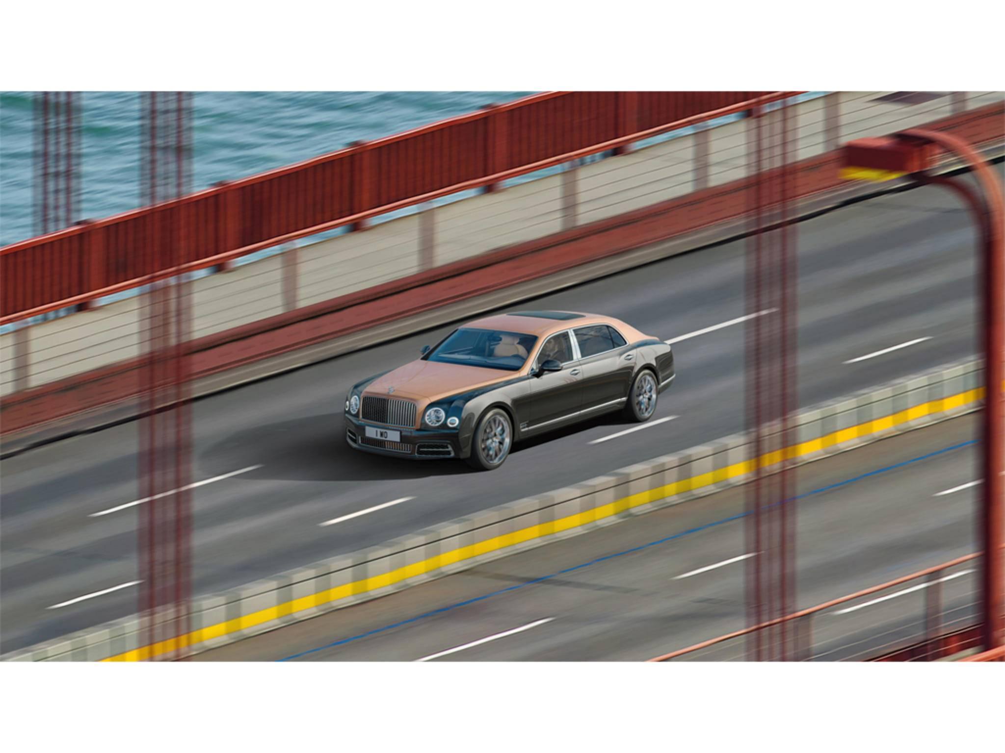 Man muss schon reinzoomen, um den Bentley Mulsanne zu erkennen.