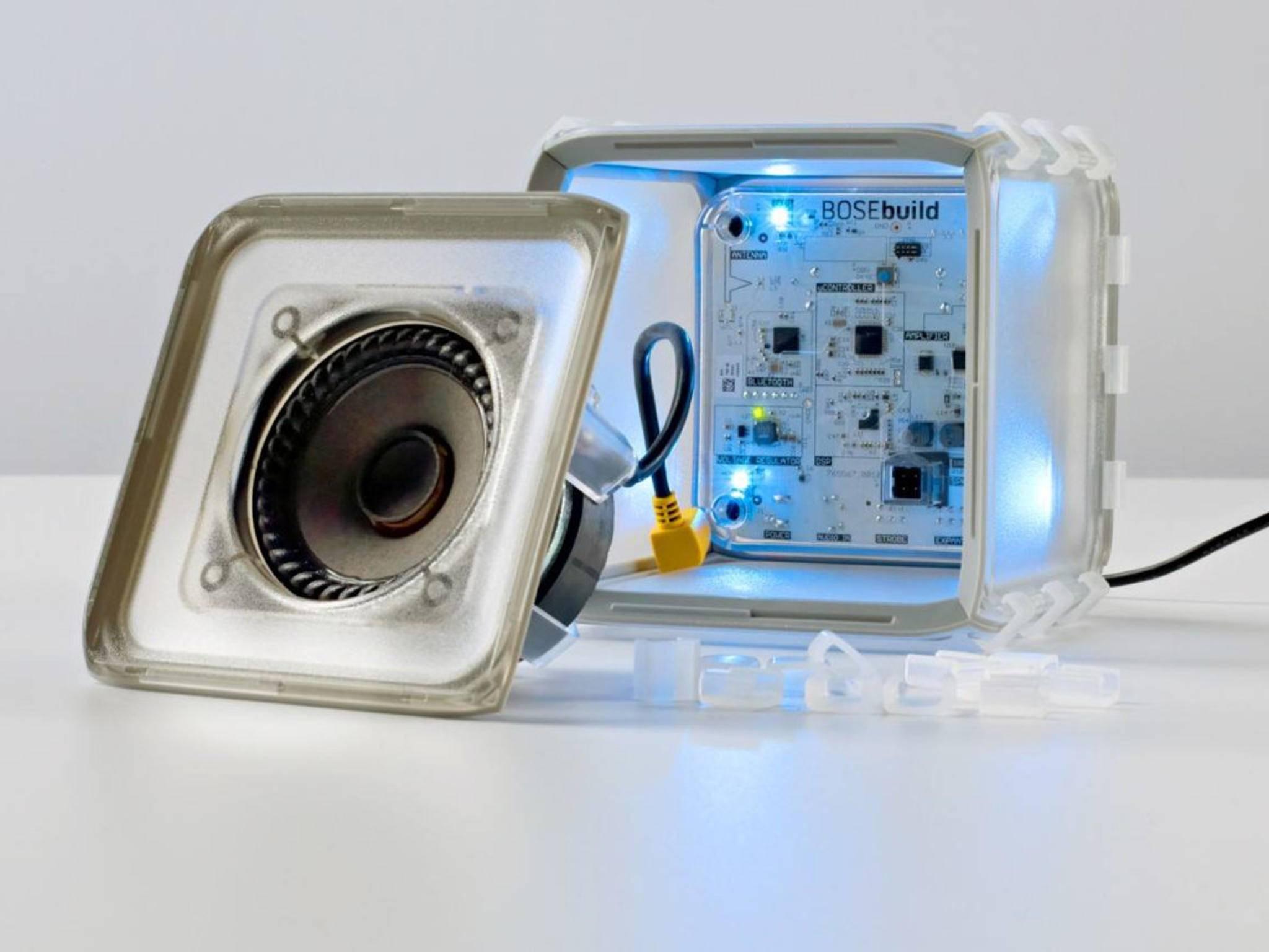 Robust und einfach: Der Speaker Cube von BoseBuild.
