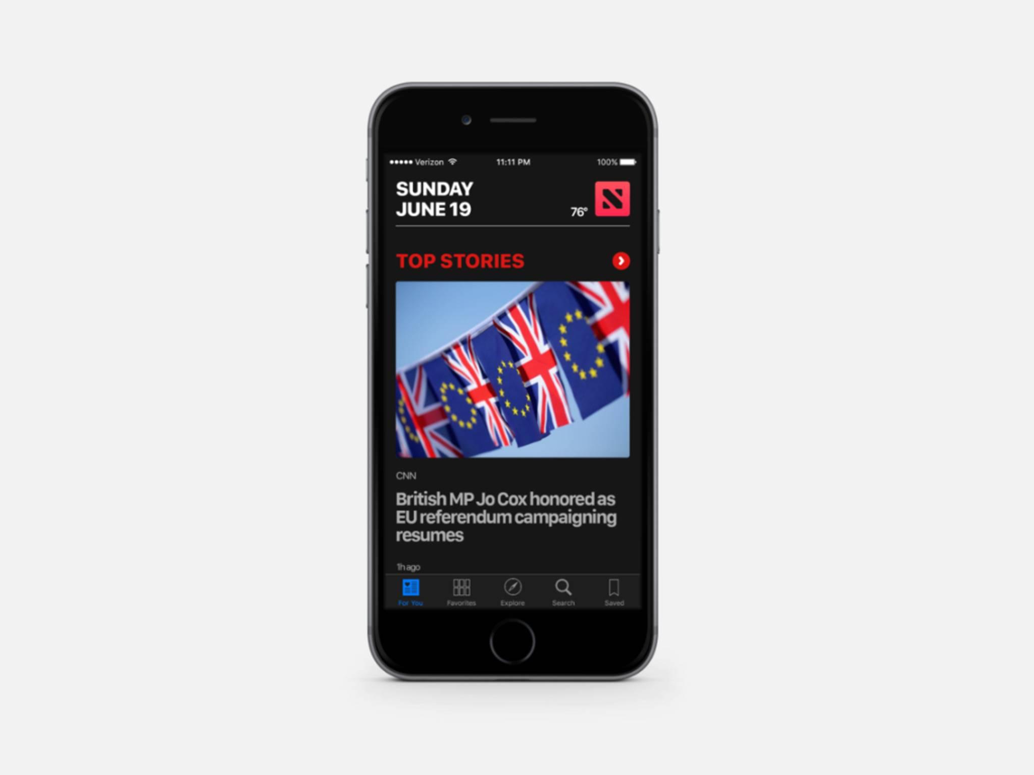 Der Dark Mode taucht iOS in ein elegantes Schwarz.
