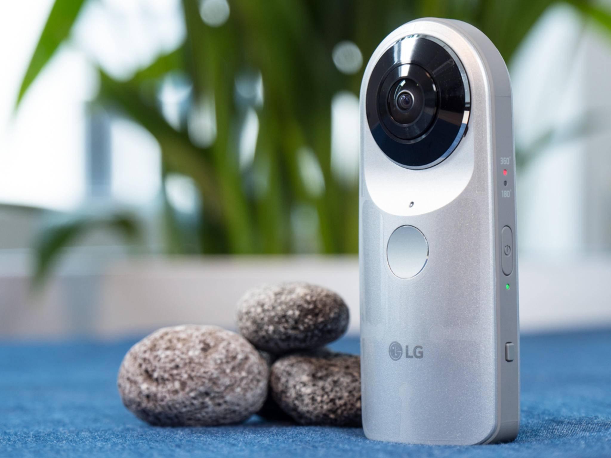 Fast schon unauffällig im Design: Die LG 360 Cam.