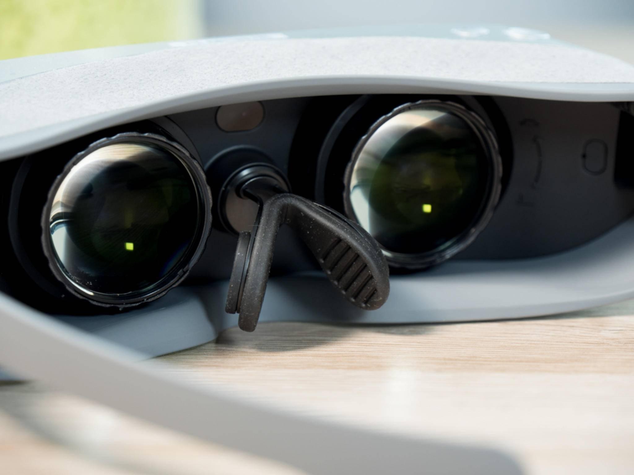 Die LG 360 VR liegt auf der Nase auf.