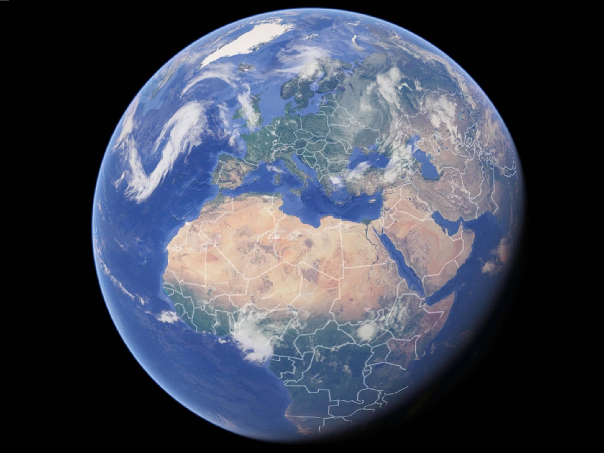 Per Google Earth auf Entdeckungstour zu gehen, ist nicht ohne Einschränkungen möglich.