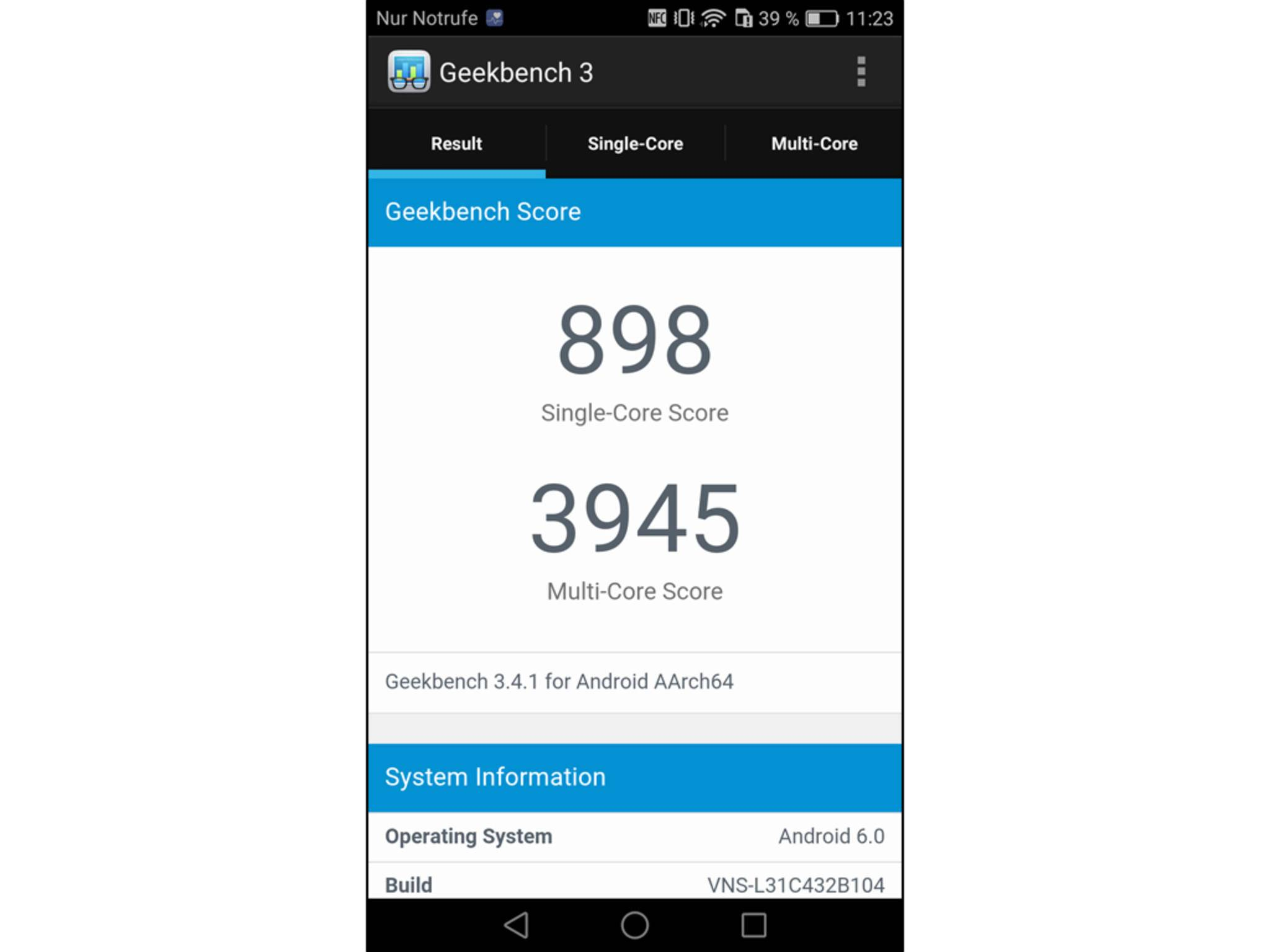 Huawei P9 Lite Screenshot 1