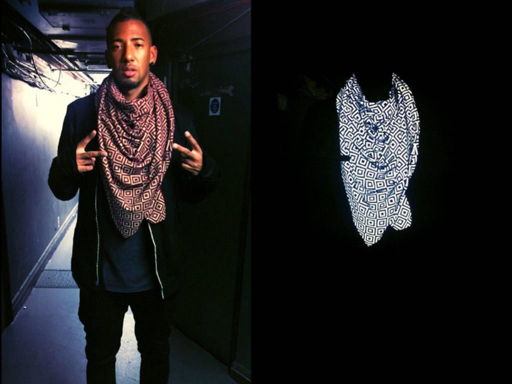 Auch Jerome Boateng benutzt den Tarnkappen-Schal.