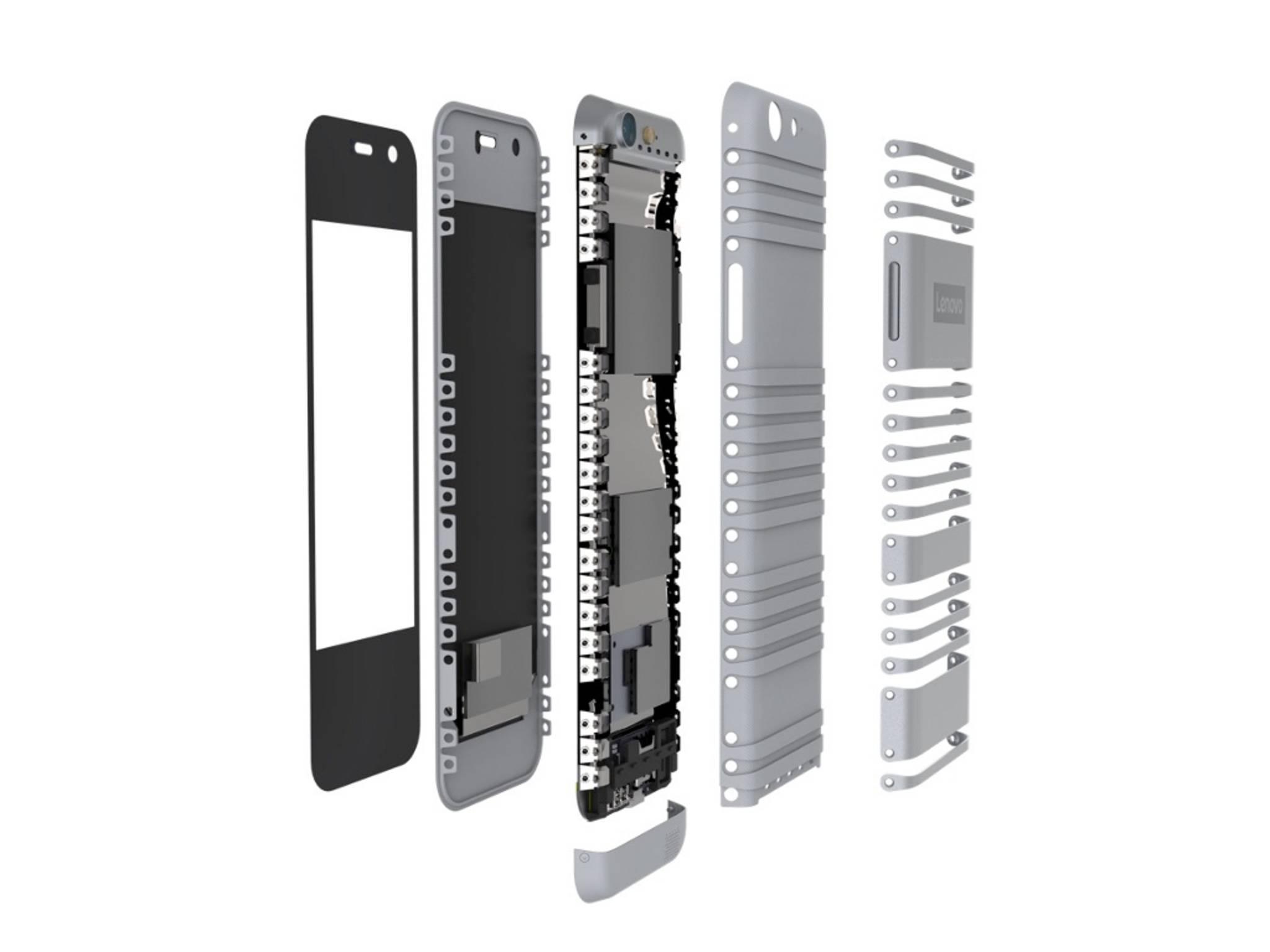 Bei biegbaren Smartphones wie dem Lenovo Cplus müssen alle Bauteile flexibel sein.