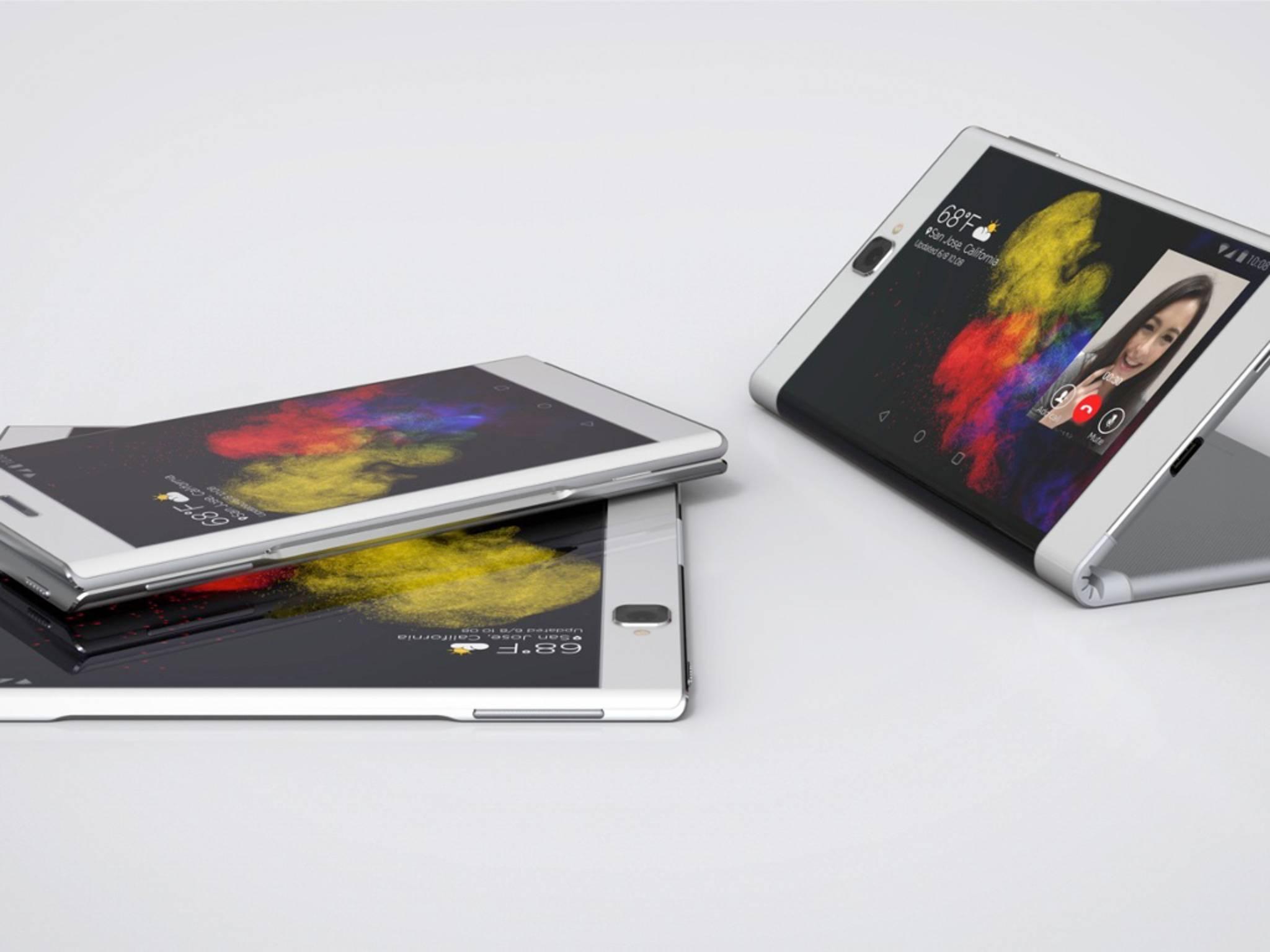 Das Lenovo Flex Tablet lässt sich in der Mitte falten.