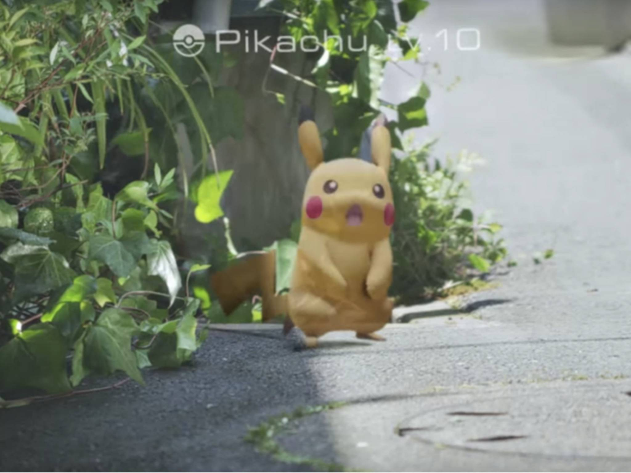 In der echten Welt musst Du die Pokémon finden und einfangen.