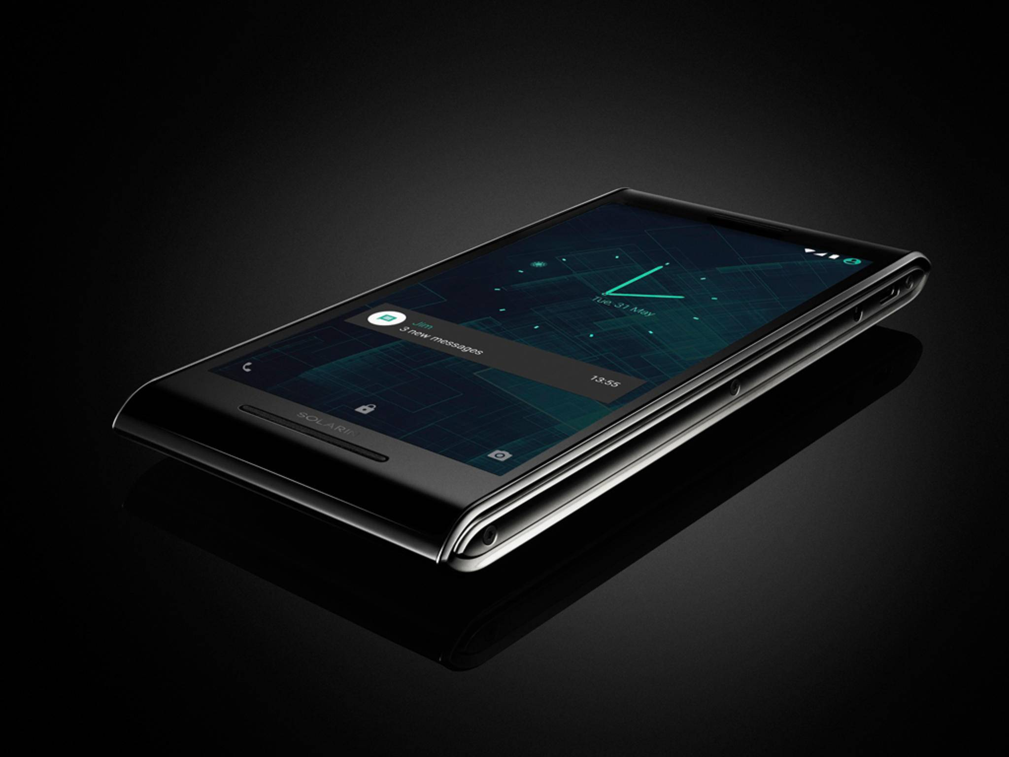 Ultrasicher, aber extrem teuer: Das Solarin-Smartphone kostet satte 13.000 Euro.