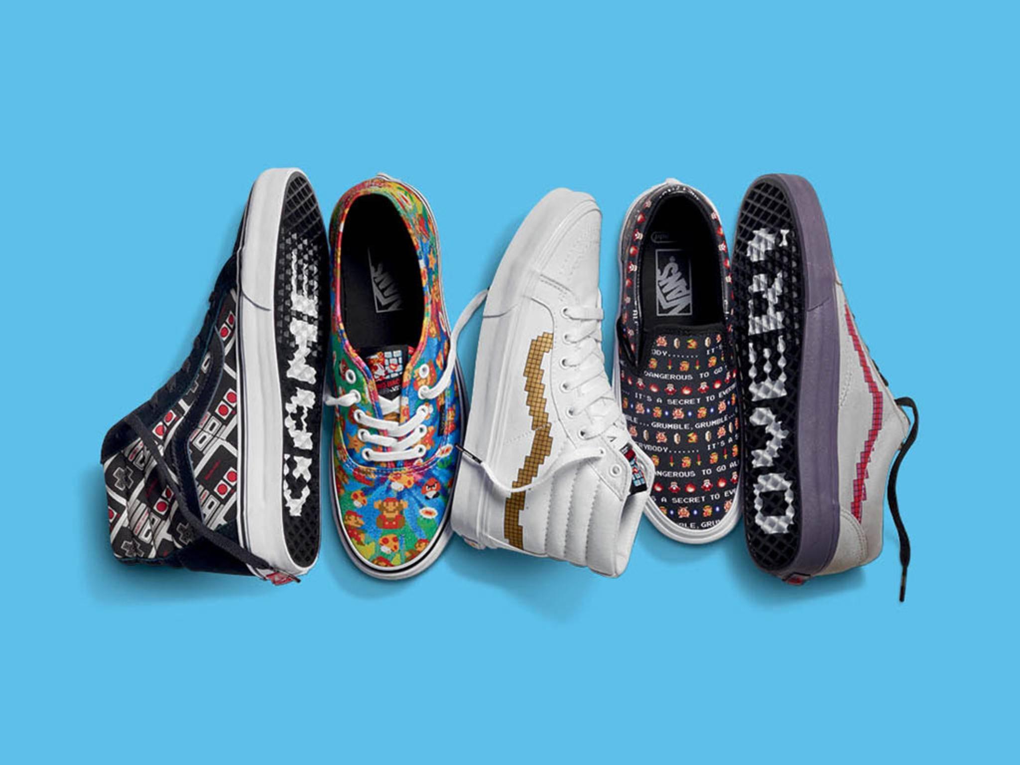 Die stylishen Nintendo-Schuhe von Vans kommen in den Handel.