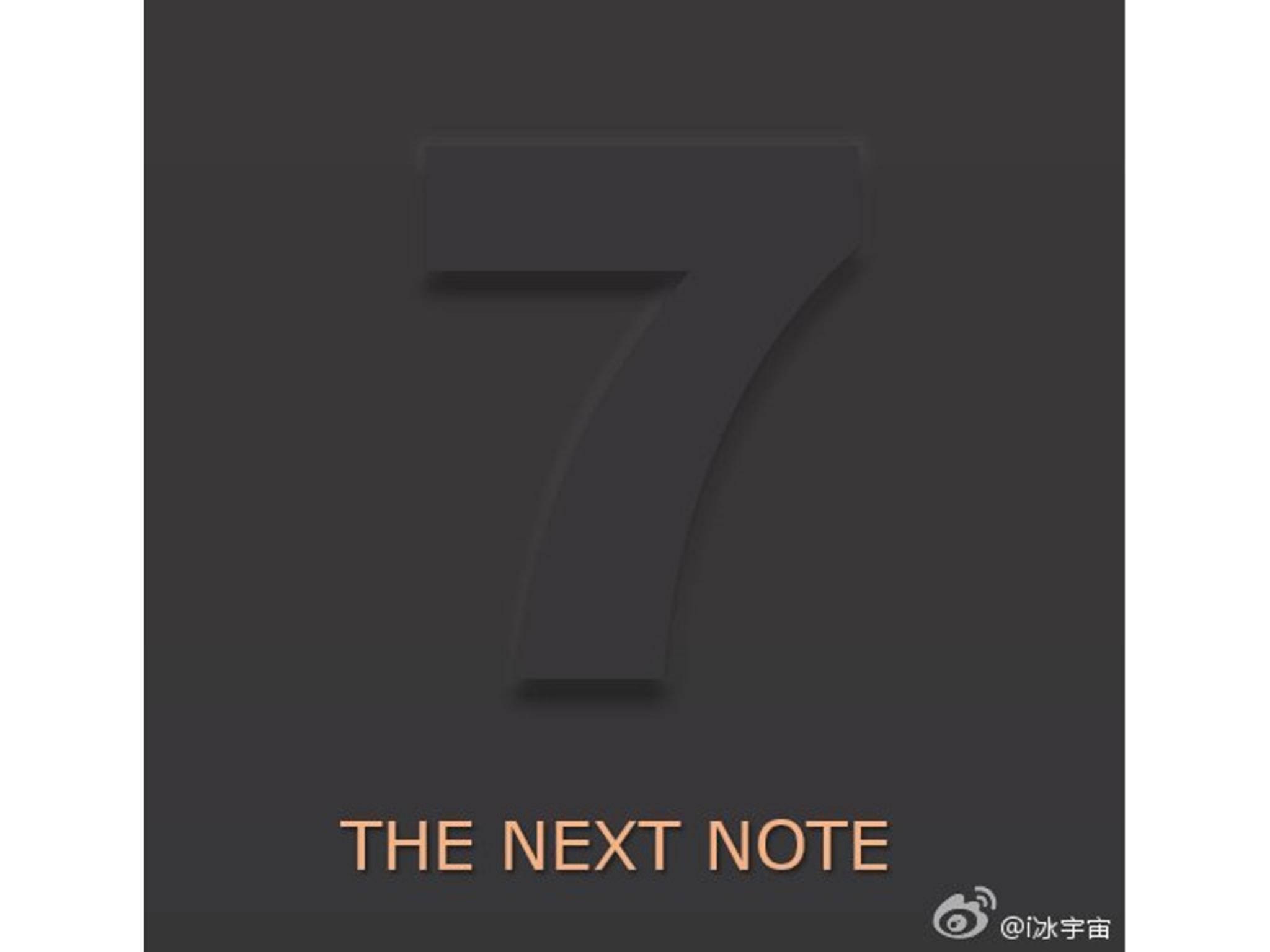 Ist dieses Bild die Bestätigung zum Note 7?