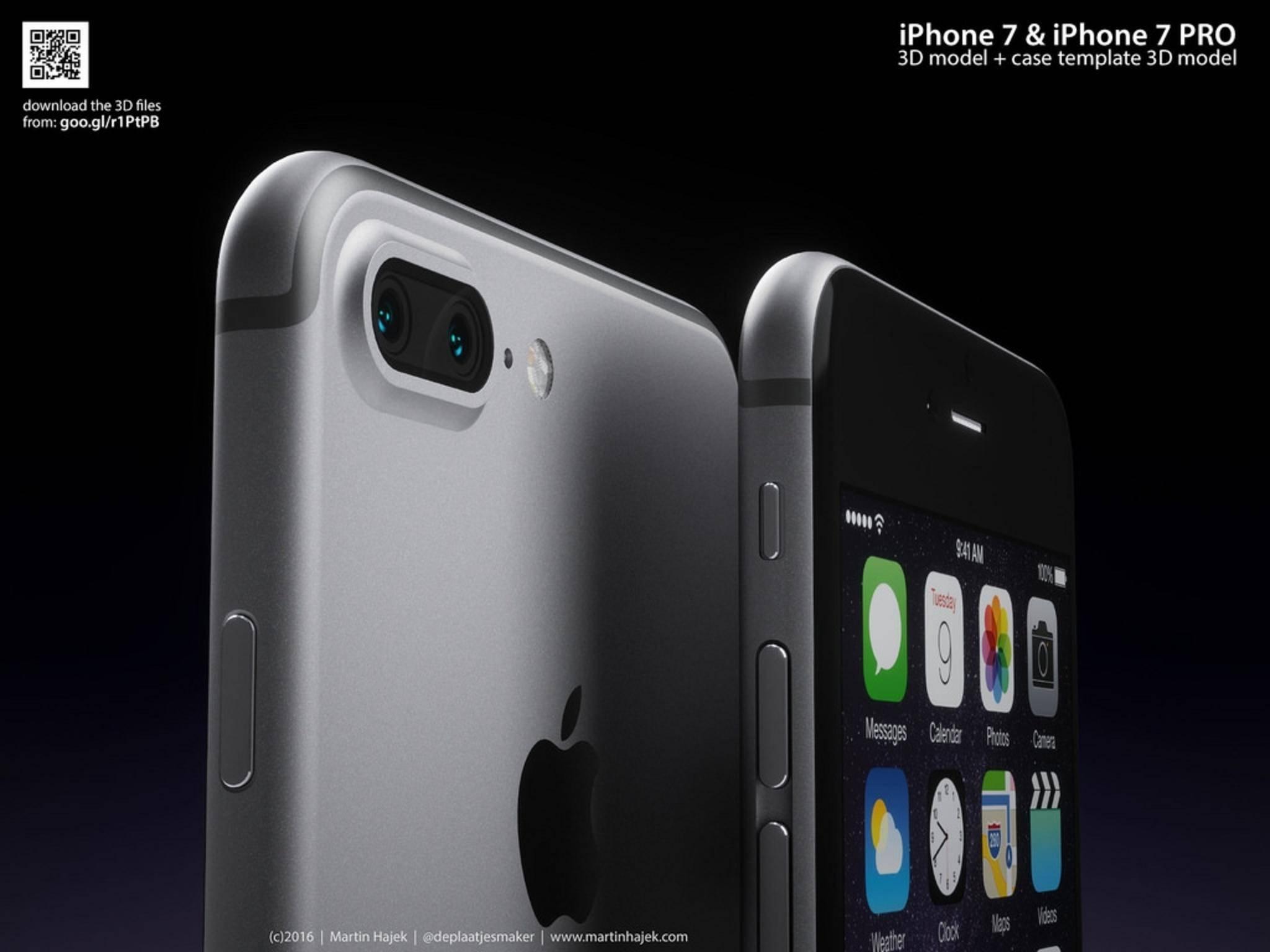 So soll es aussehen: Das iPhone 7 Plus.