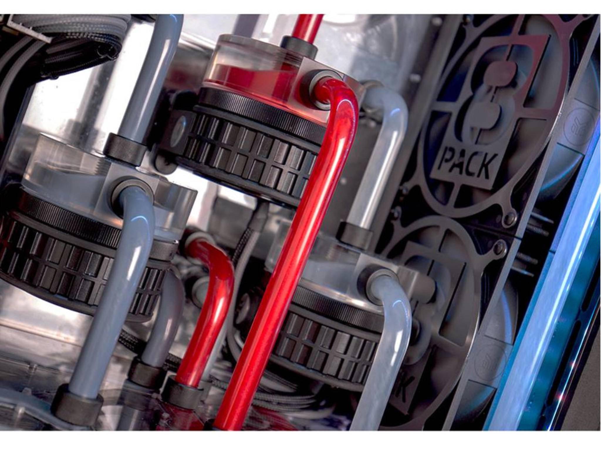 Drei getrennte Kühlkreisläufe sorgen für angenehme Temperatur.