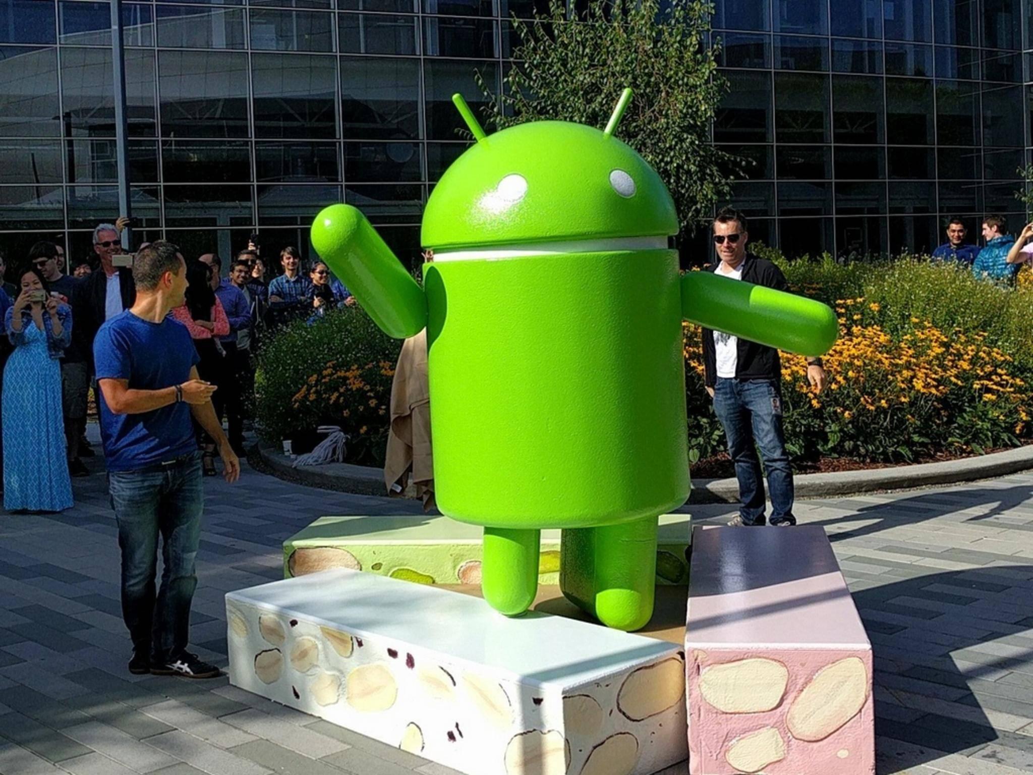 Süßer Roboter: Android N steht offiziell für Nougat.