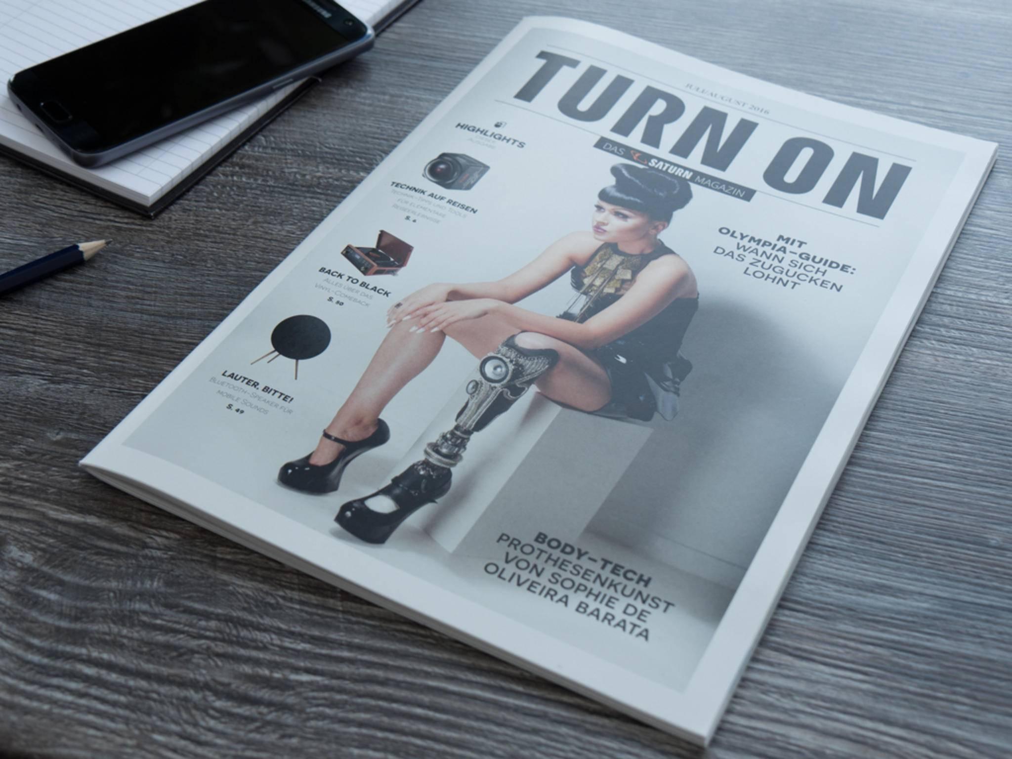 Das neue TURN ON Magazin 04/2016 beschäftigt sich mit Body-Tech.