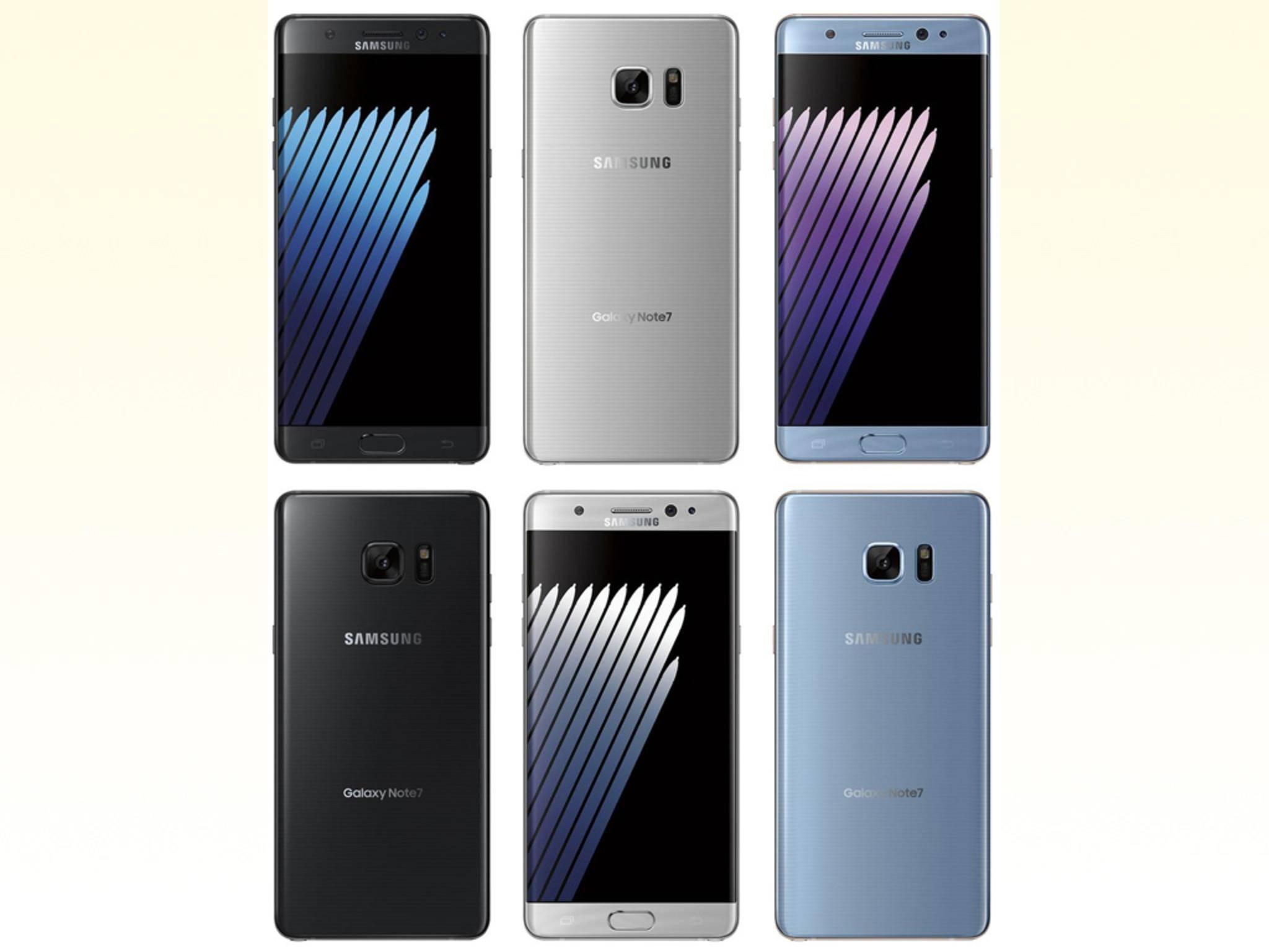 So soll das Galaxy Note 7 laut Pressebildern von @evleaks aussehen.