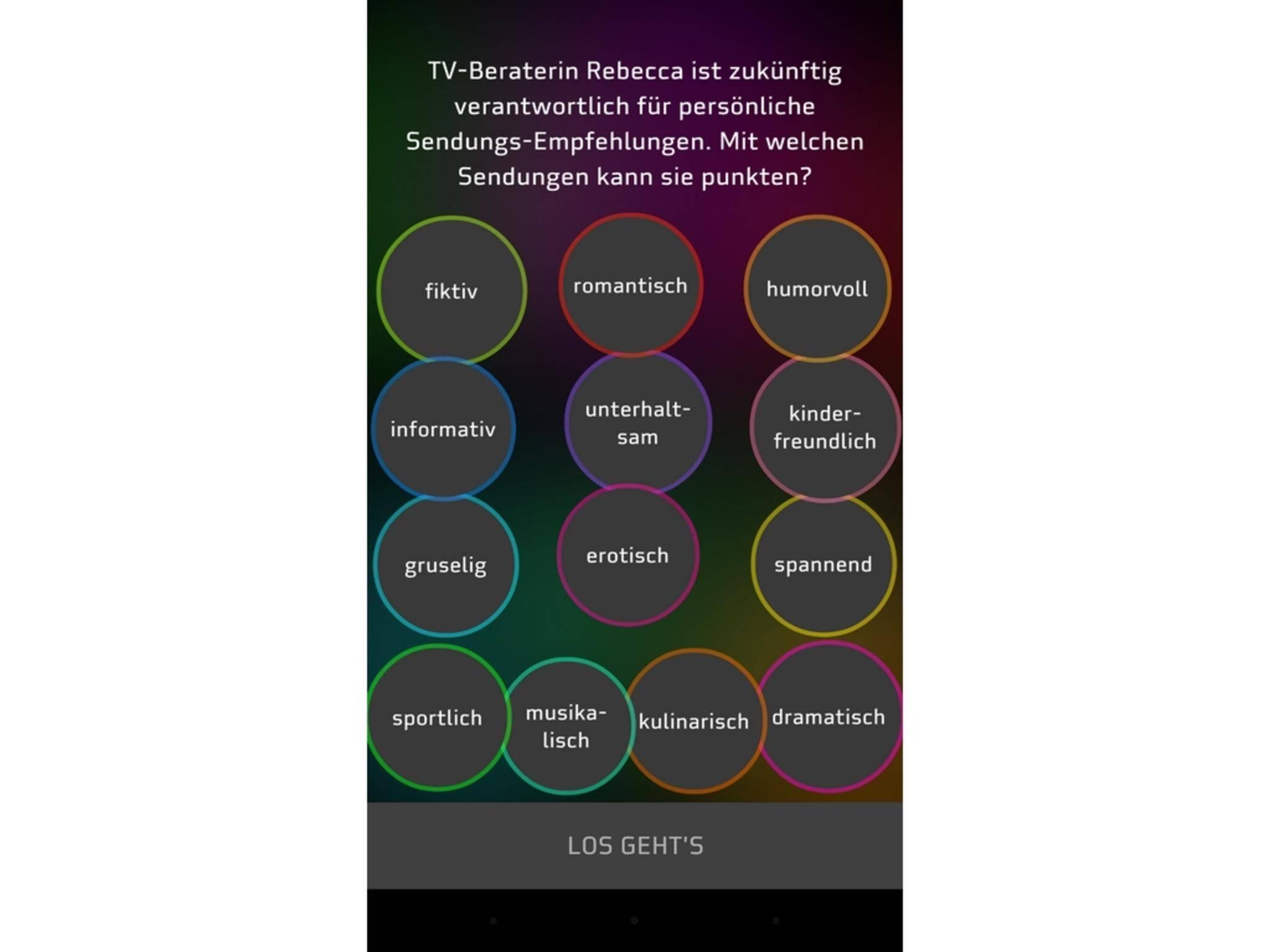 HD+ lässt den Nutzer die Wahl der beliebtesten Genres.
